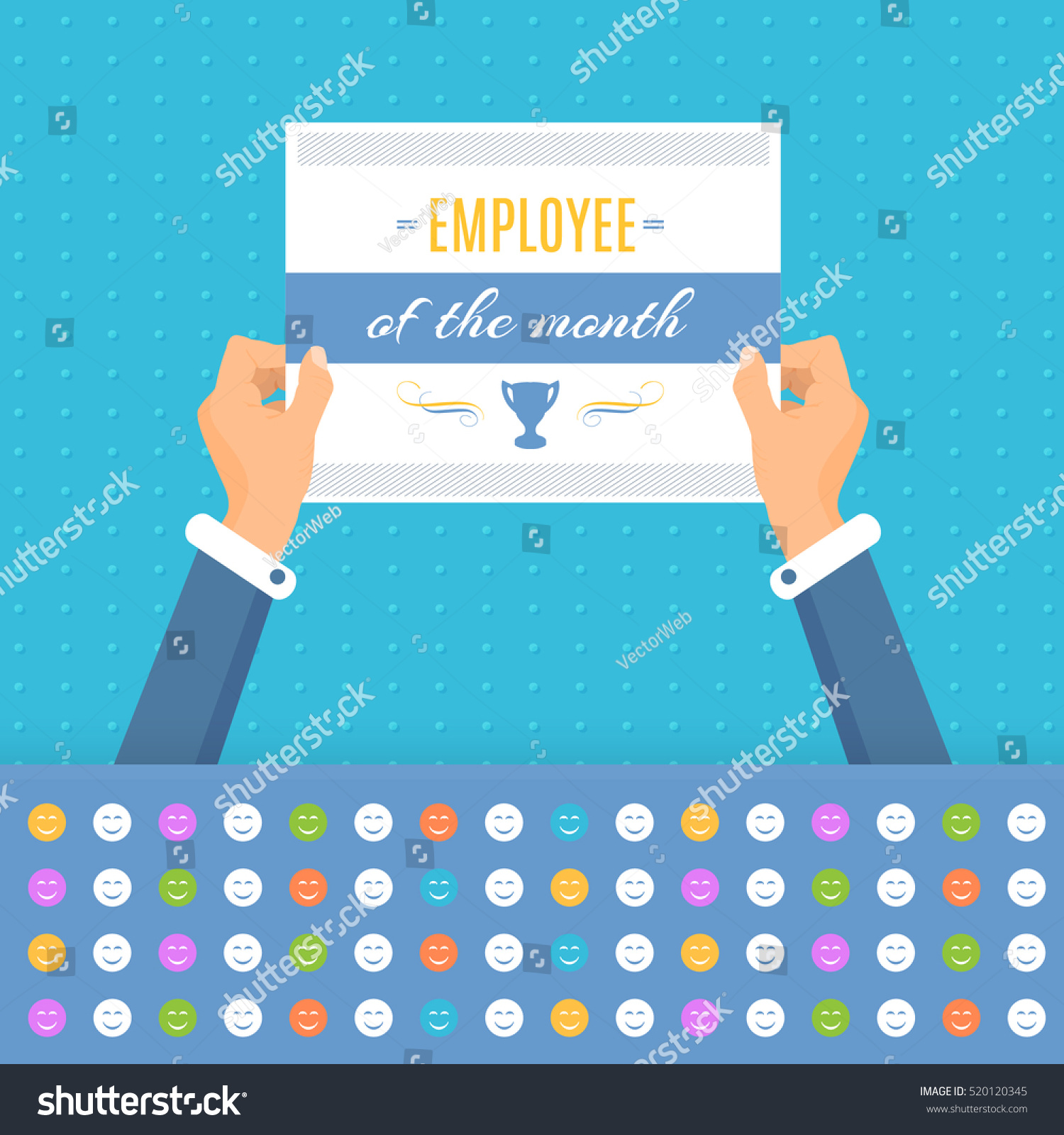Employee Of The Month Quotes Business Slogans Motivation Quote Text Employee Stock Vector