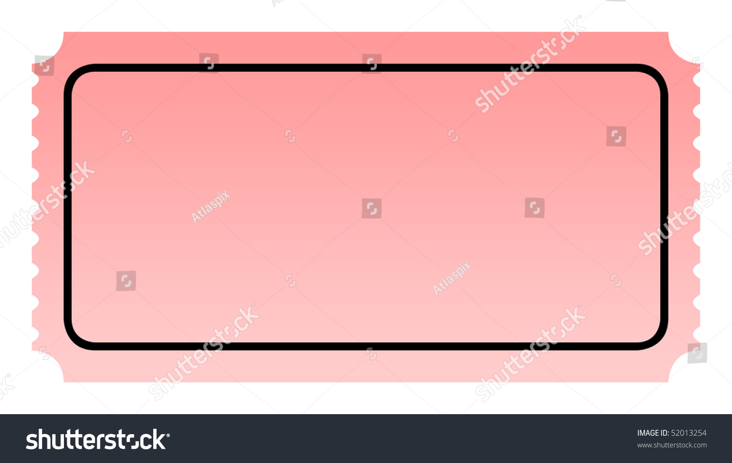 Blank Pink Ticket Isolated On White Illustration 52013254 – Blank Ticket