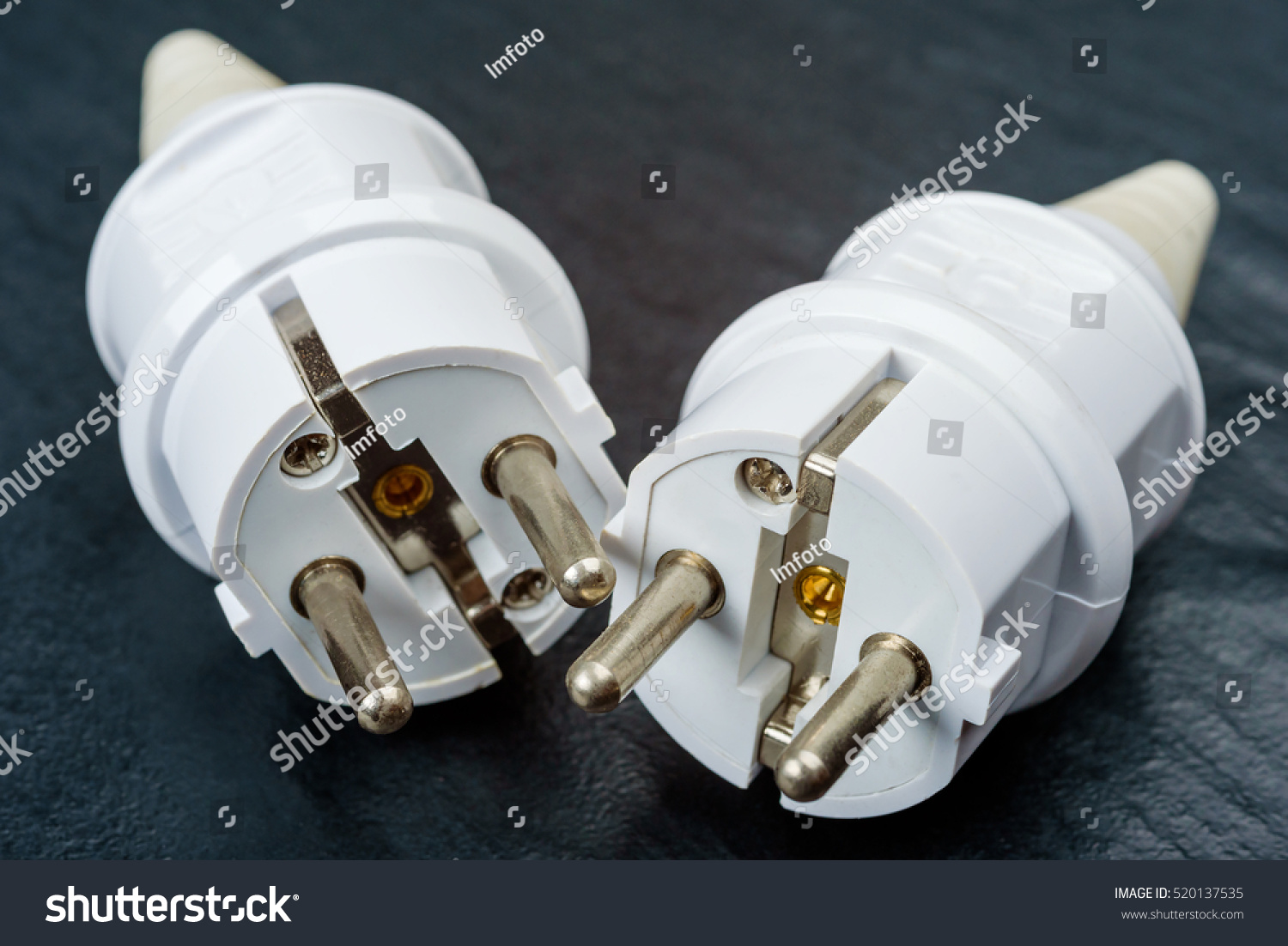 Two Electric Plug Spare Parts On Stock Photo (Royalty Free ...