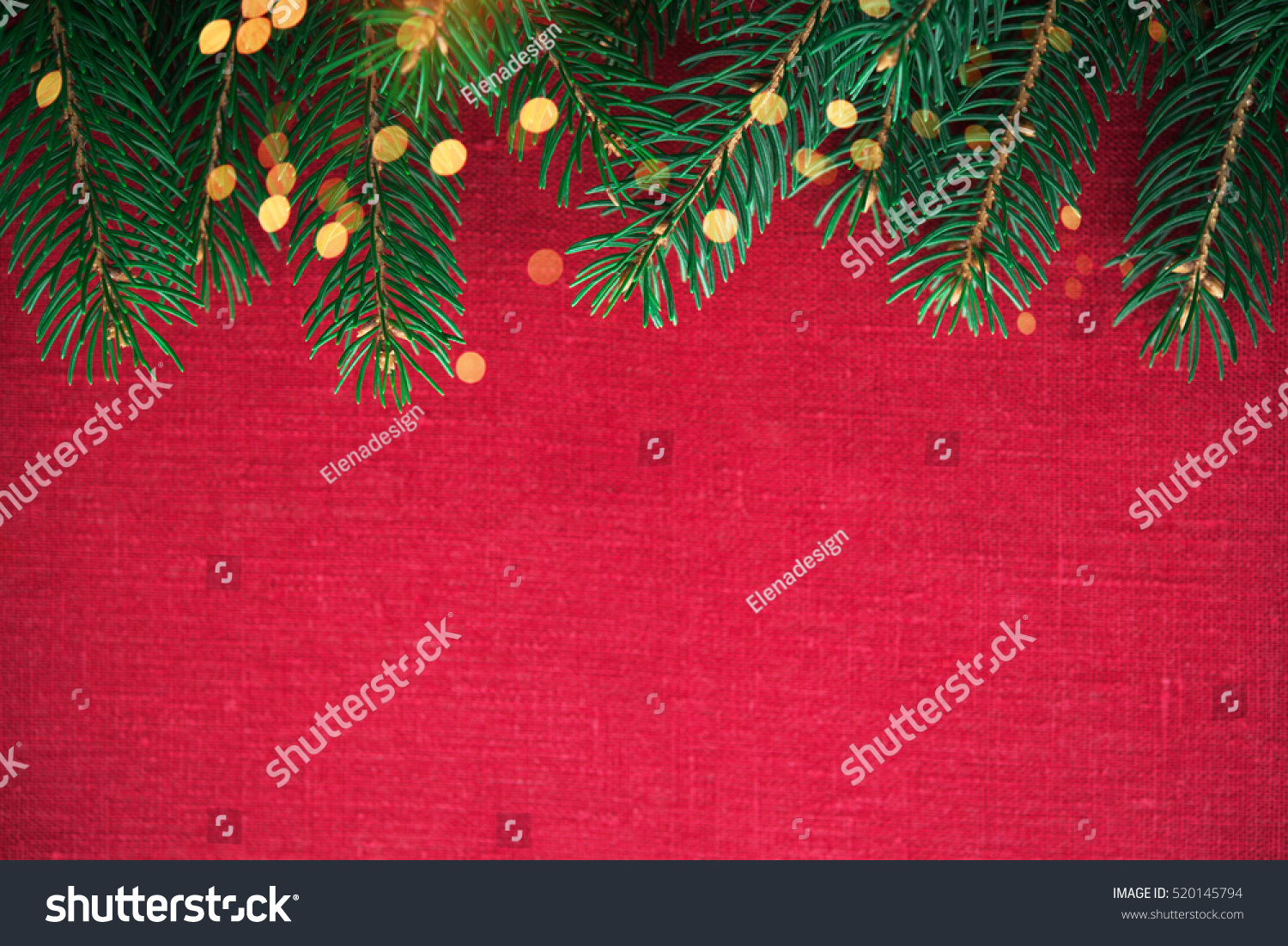 Christmas Background Xmas Tree Twinkle Bokeh Stock Photo ...