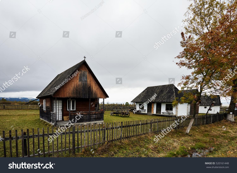 Romanian peasant architecture old peasant houses stock photo 520161448 shutterstock - Romanian peasant houses ...
