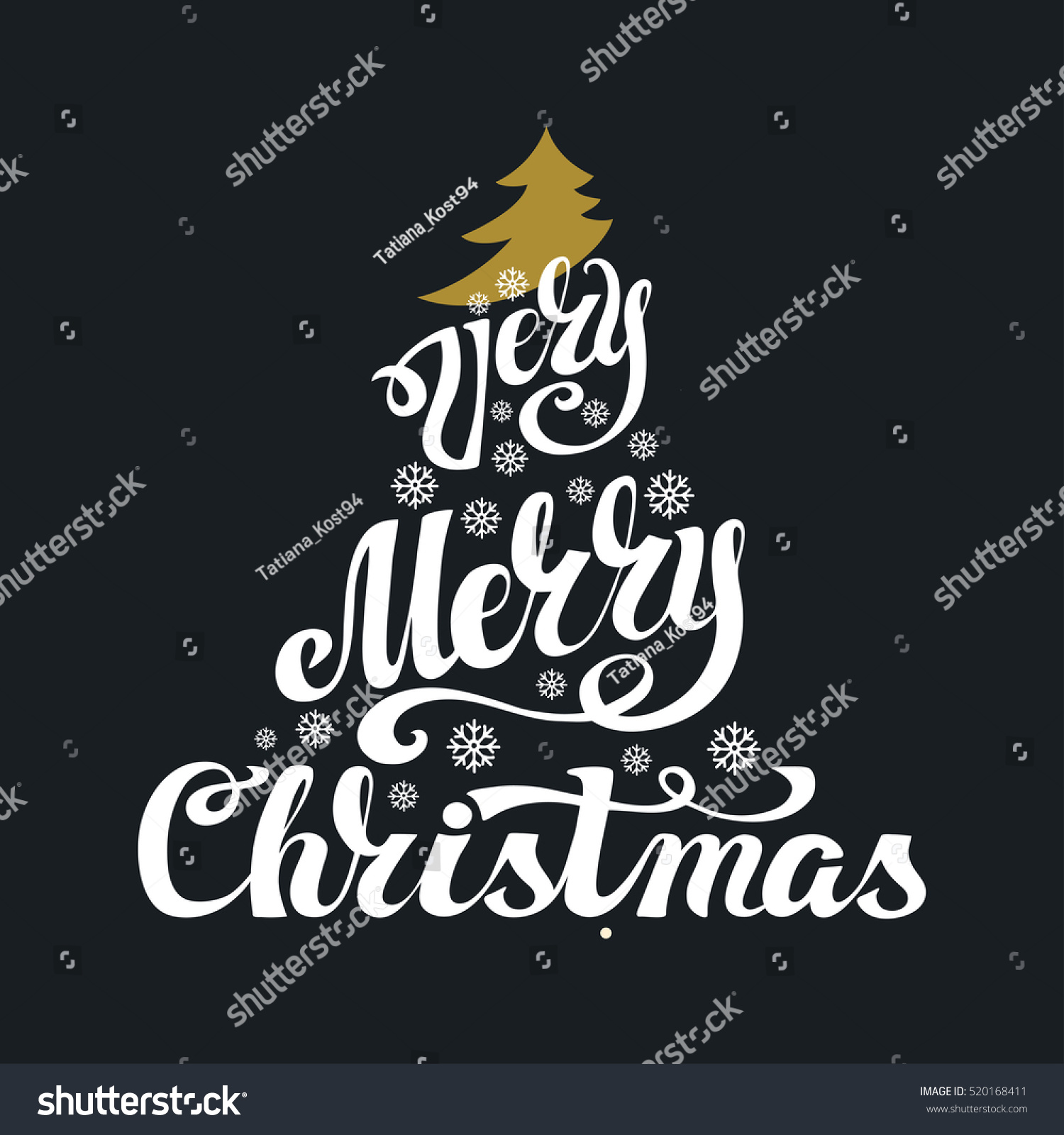 Christmas greeting card merry christmas vector handwriting id 520168411 m4hsunfo