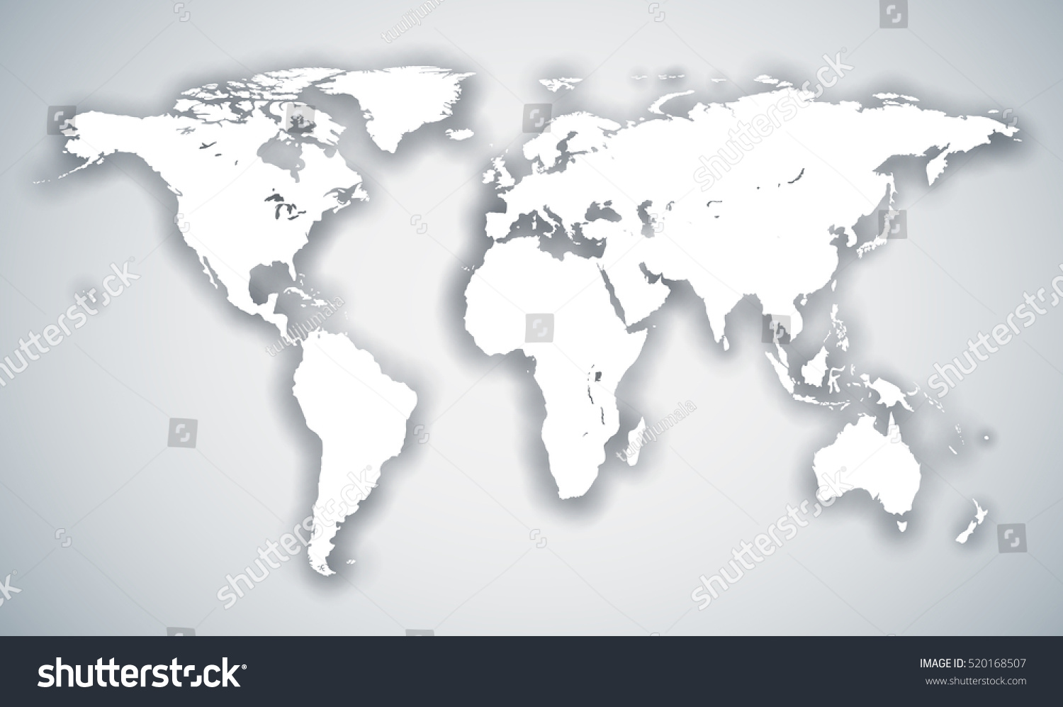abstract white world continents map shadow stock vector royalty