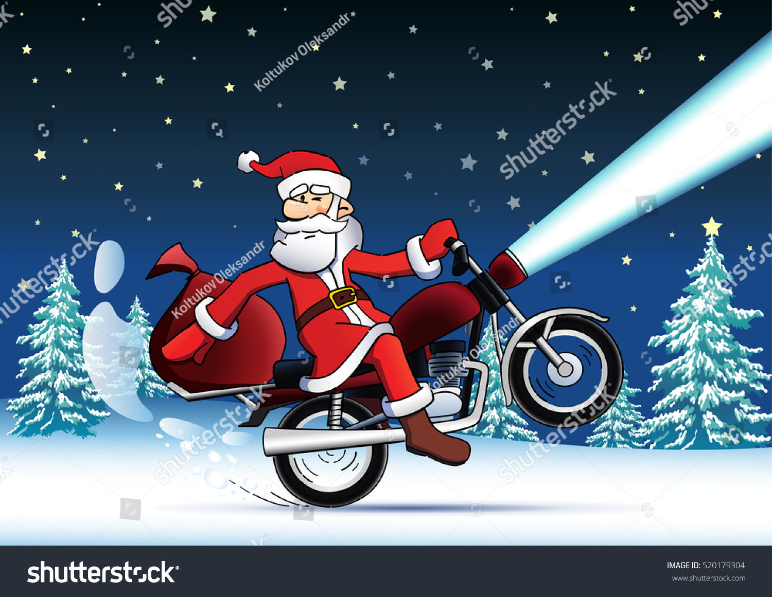 Funny Santa Claus Christmas Gifts On Stock Vector (Royalty Free ...