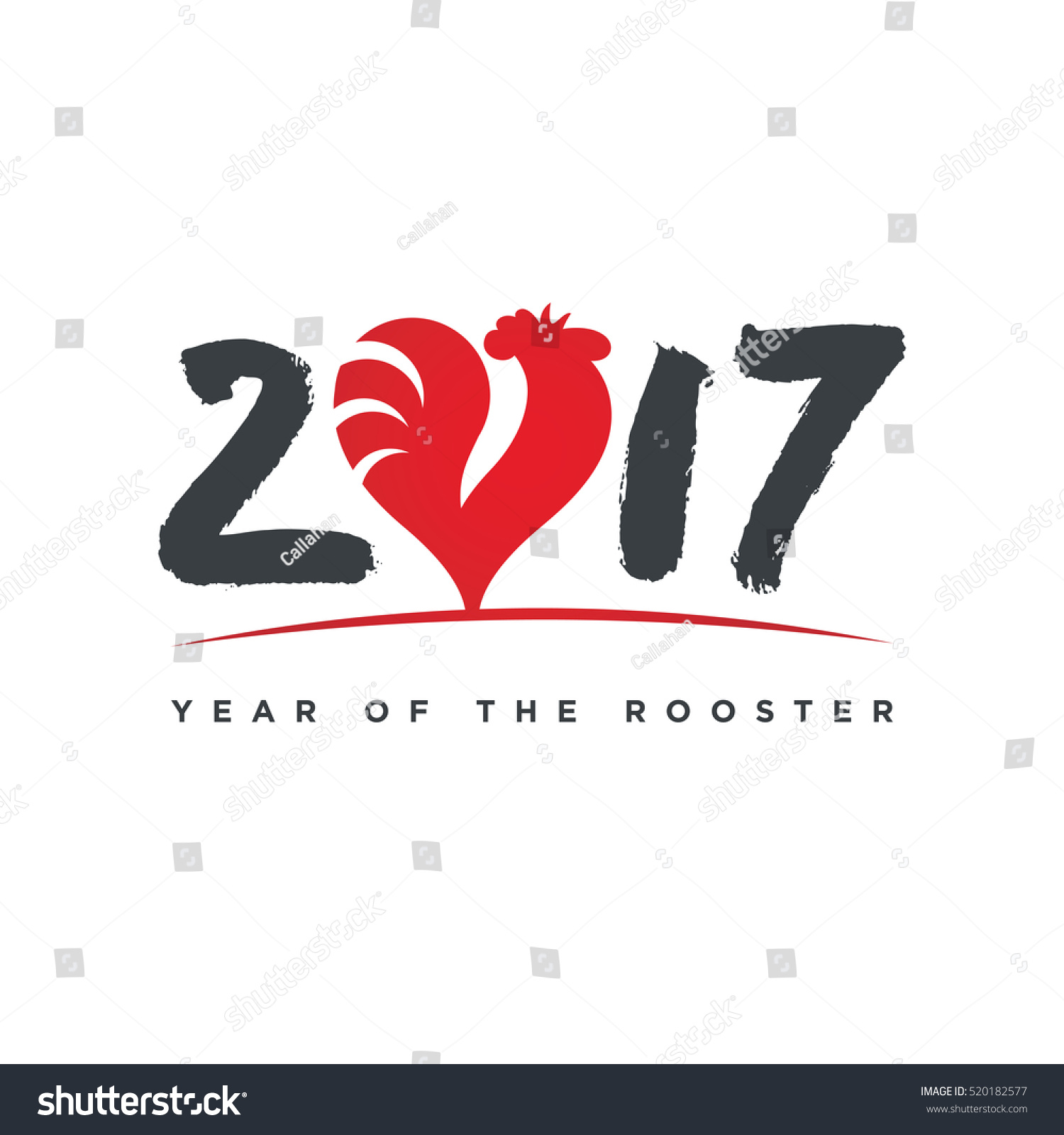 2017 year rooster greeting card silhouette stock vector 520182577 2017 year of the rooster greeting card silhouette of a red cock animal symbol buycottarizona