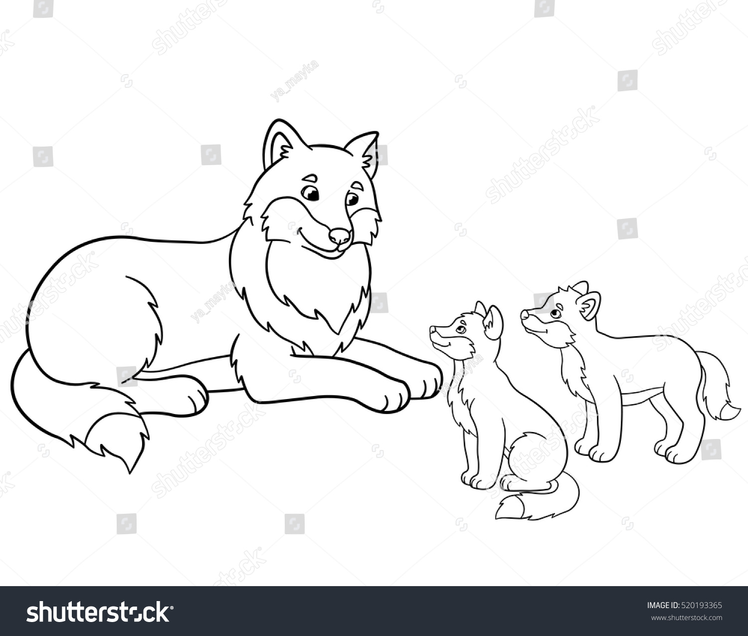 Free Wolf With Pup Coloring Pages, Download Free Clip Art, Free ... | 1275x1500