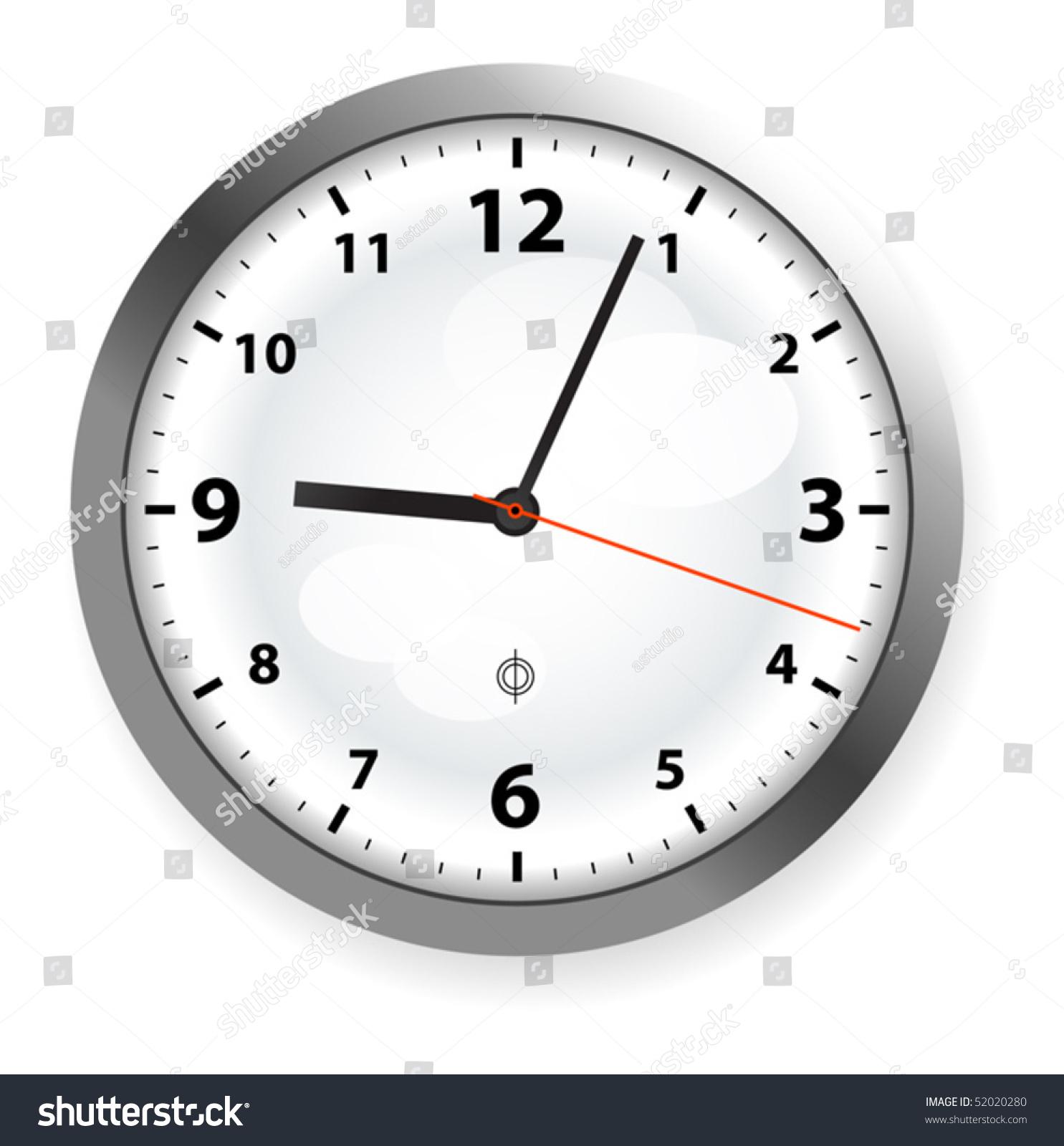 Clock on wall vector illustration stock vector 52020280 shutterstock clock on the wall vector illustration amipublicfo Gallery