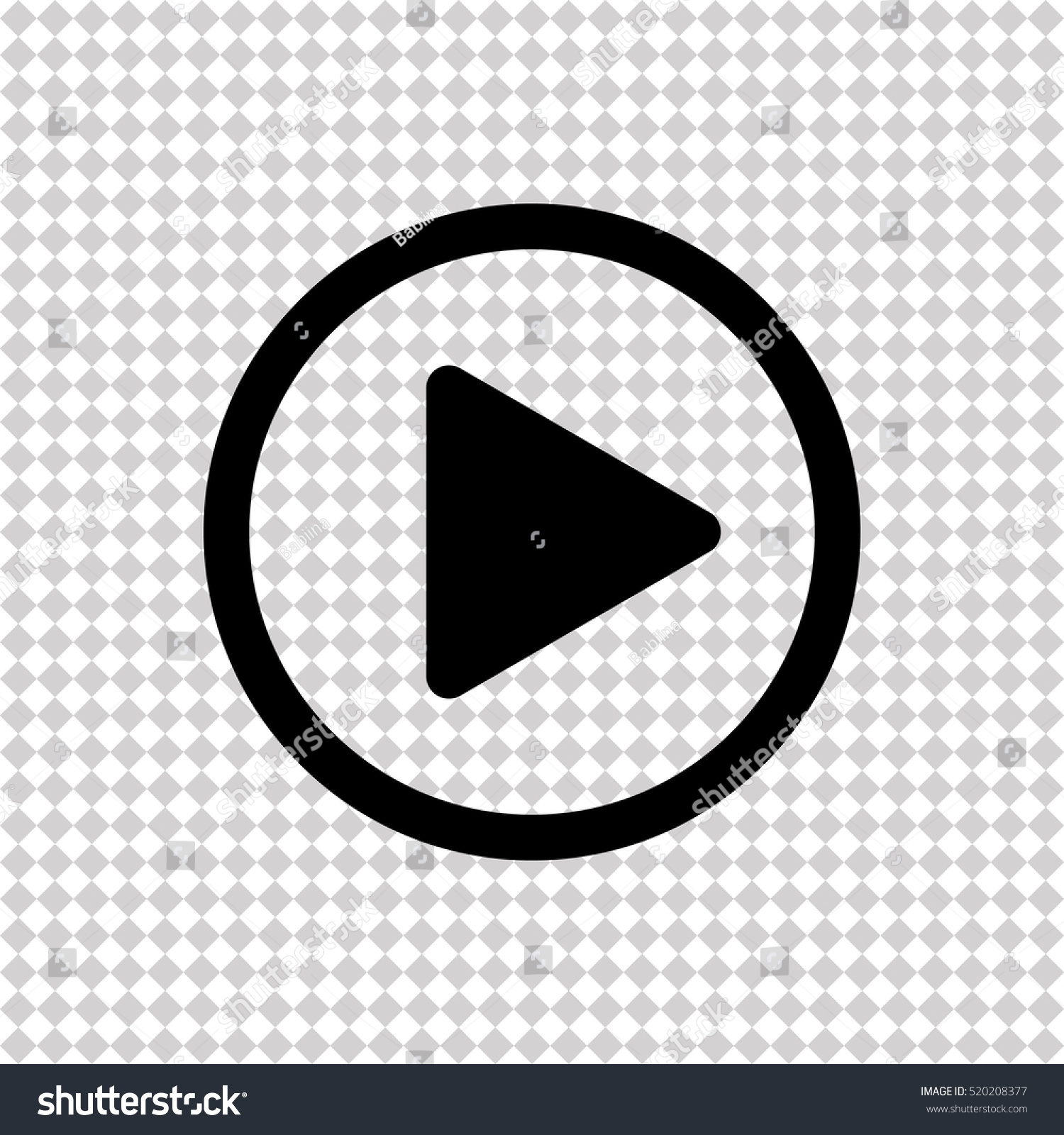 Play button  - black vector icon #520208377