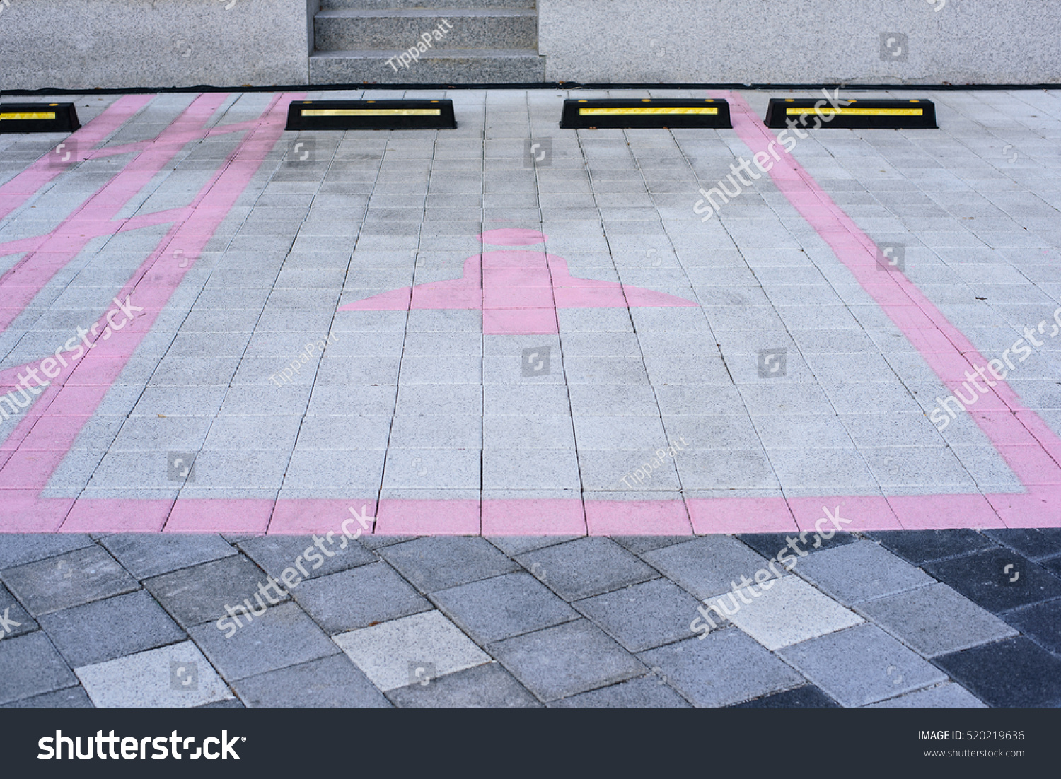 Car parking area available lady pink stock photo 520219636 car parking area available for lady with pink symbol of lady on outdoor concrete block floor buycottarizona