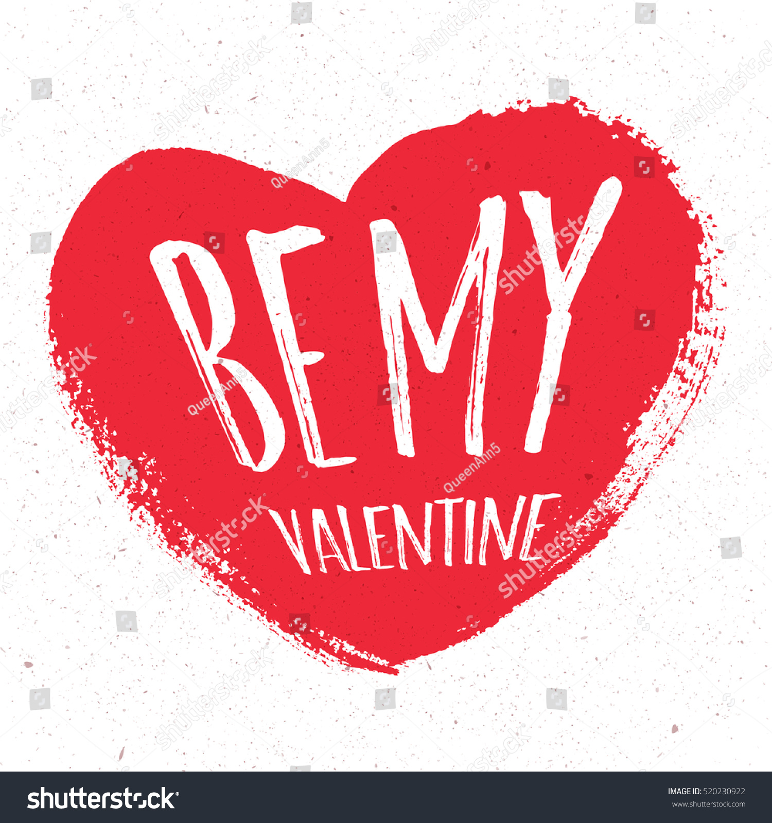valentines day greeting card be mine lettering calligraphy and typography