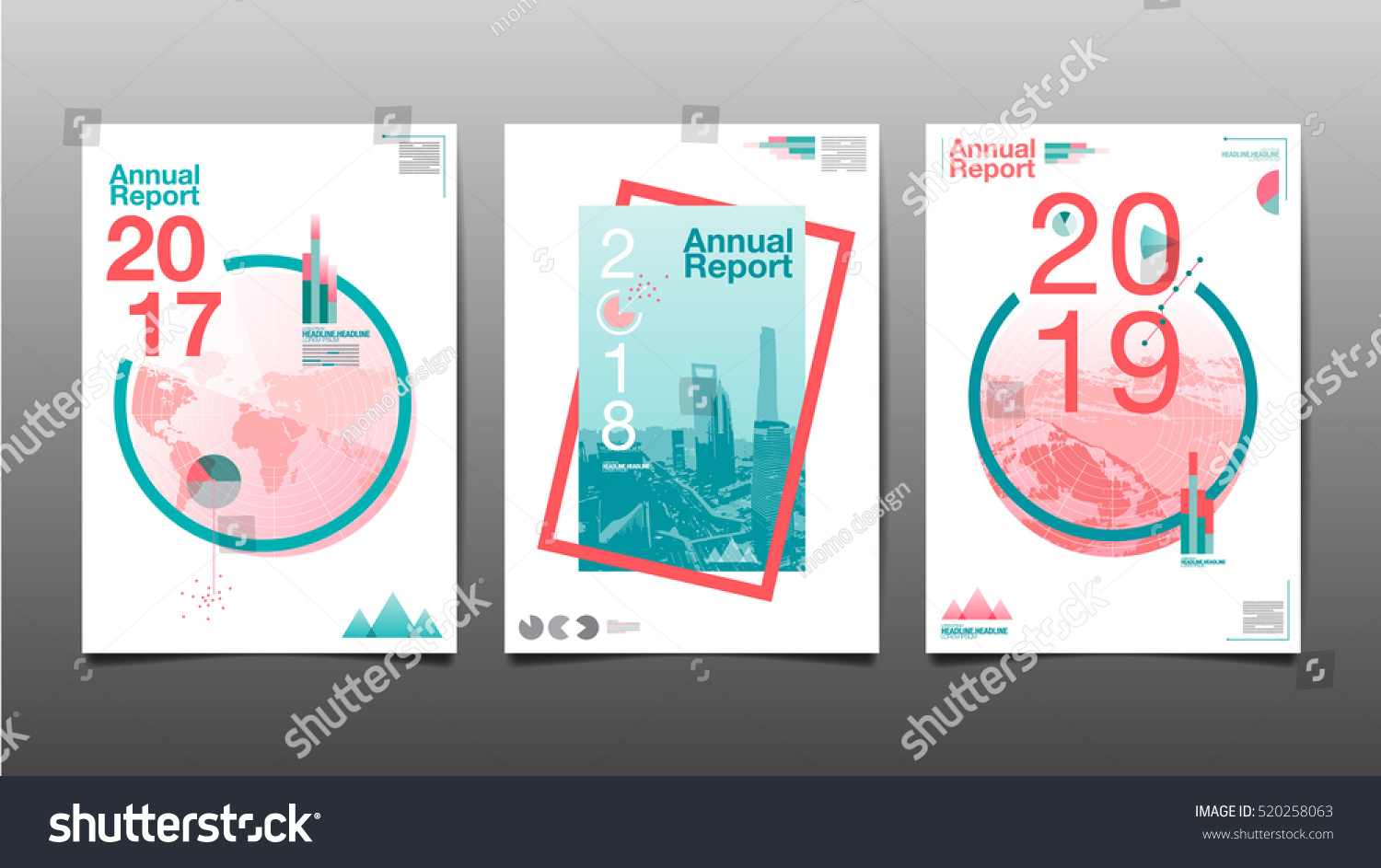 Book Cover Layout Design Vector ~ Annual report future business template layout