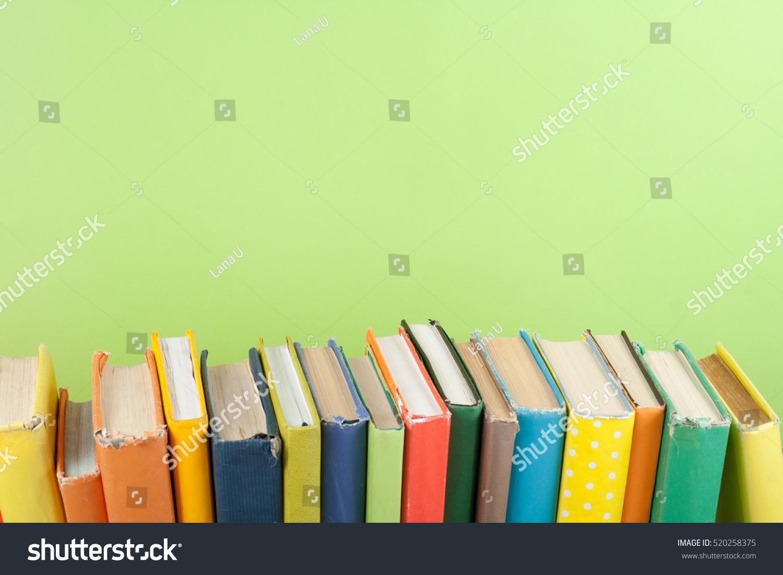 Book Stack Hardback Colorful Books On Stock Photo 520258375 ...
