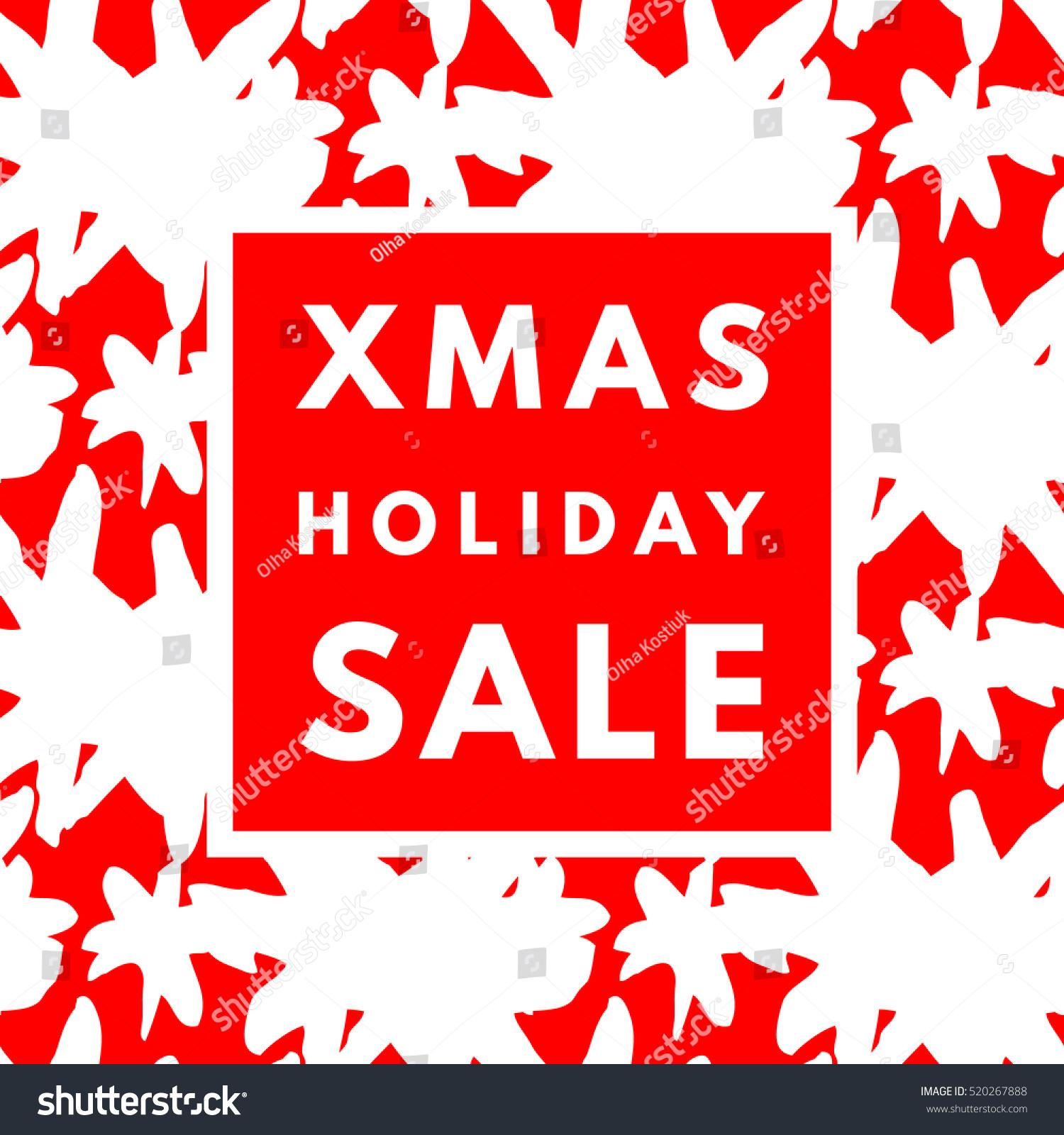 Christmas Holiday Sale Poster Minimalism Trendy Stock ...