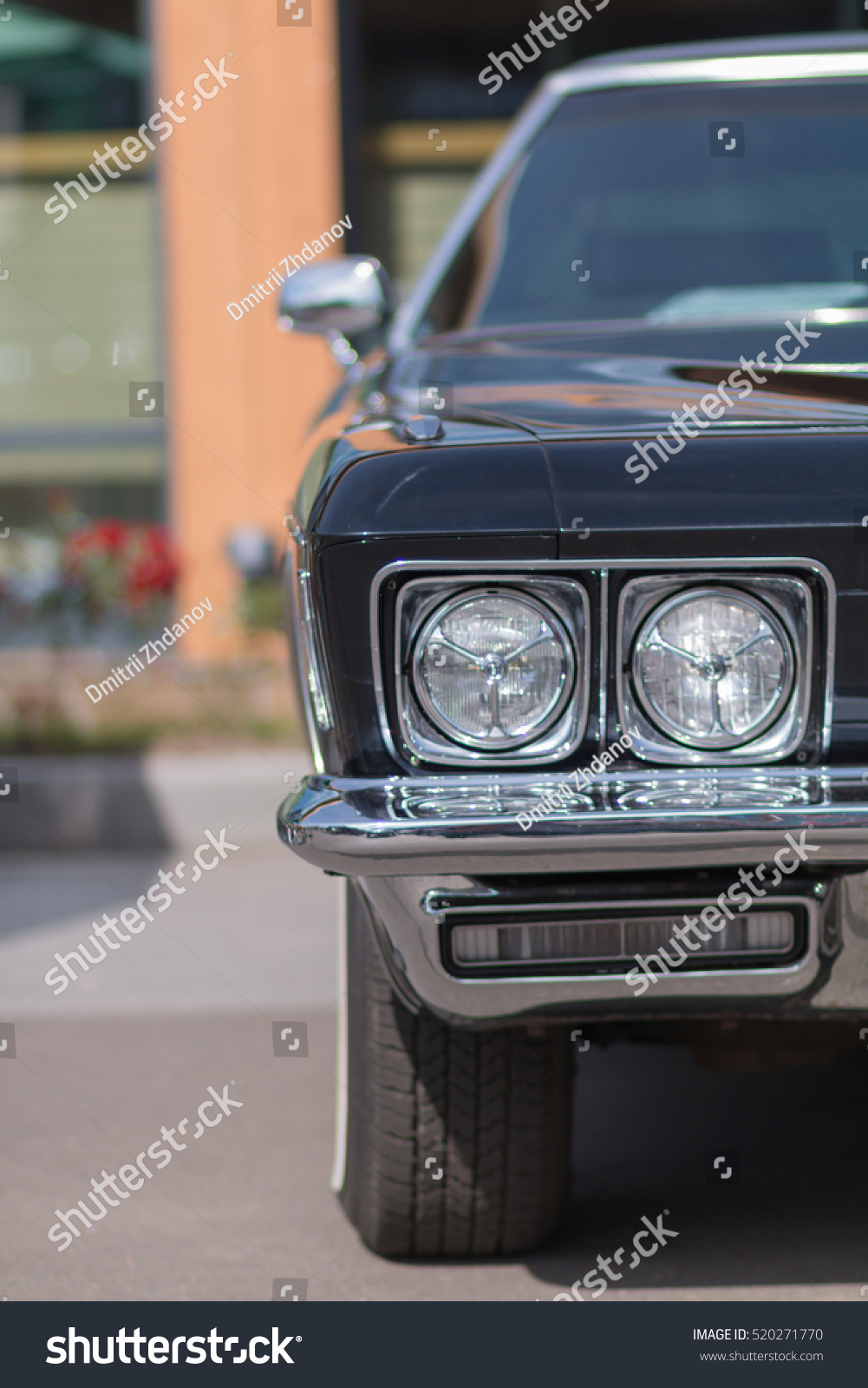 Closeup Old Car Part Exterior American Stock Photo (Royalty Free ...