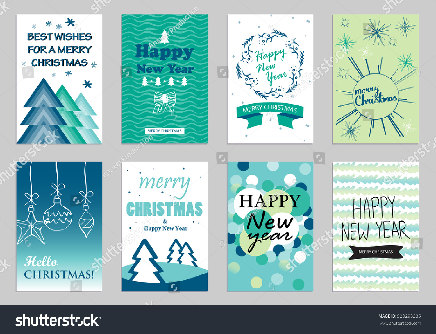 Collection flat design greeting cardsvector illustration hand stock collection of flat design greeting cardsvector illustrationhand drawn vintagemodern and m4hsunfo