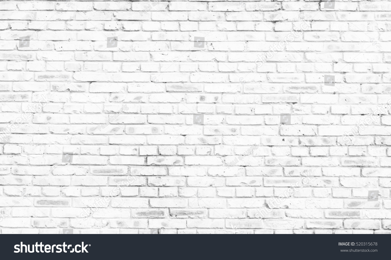 white brick wall background in rural room,  #520315678