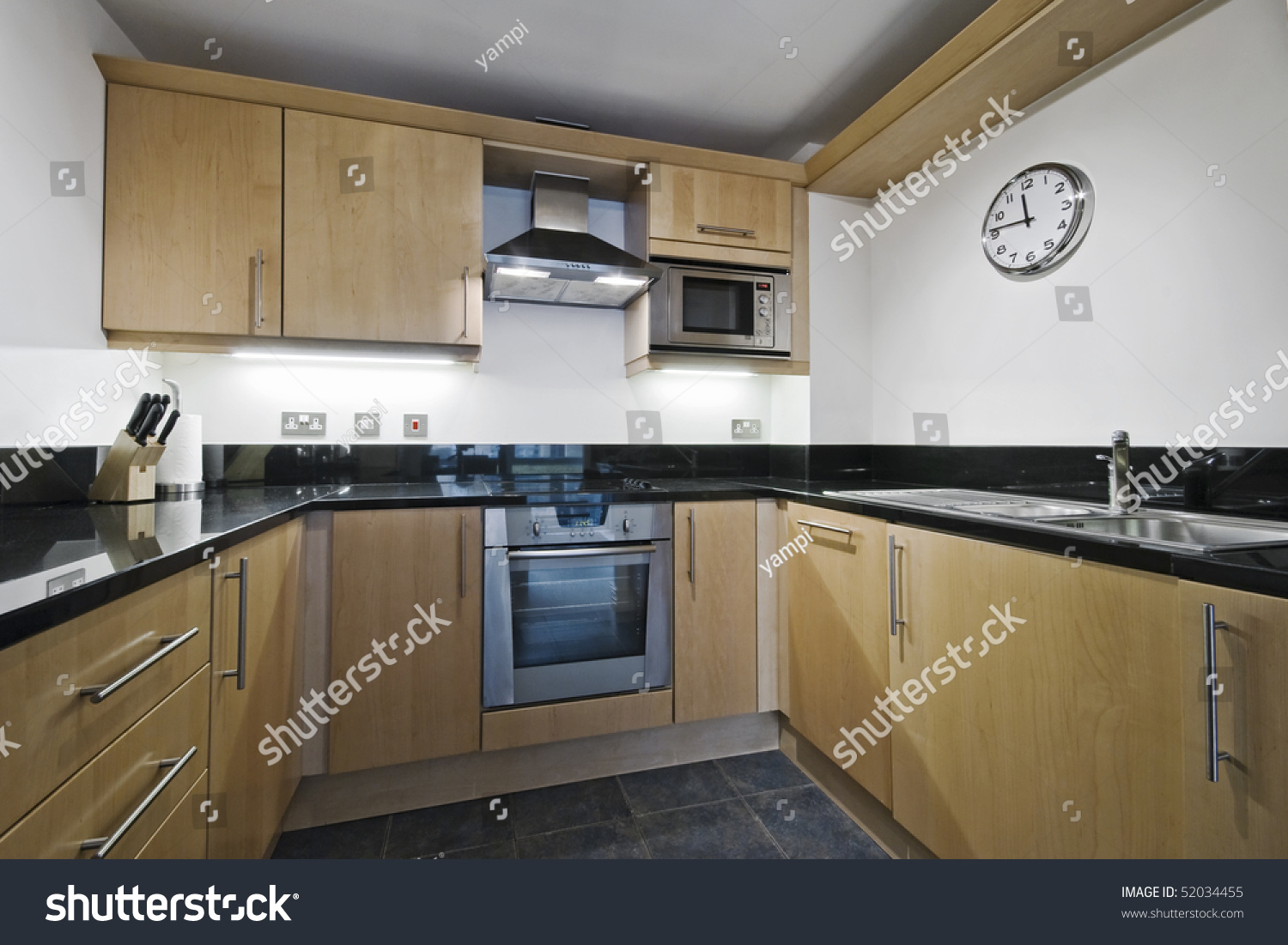Granite Worktop Kitchen Modern Kitchen Counter With Hard Wood Finish And Granite Worktop