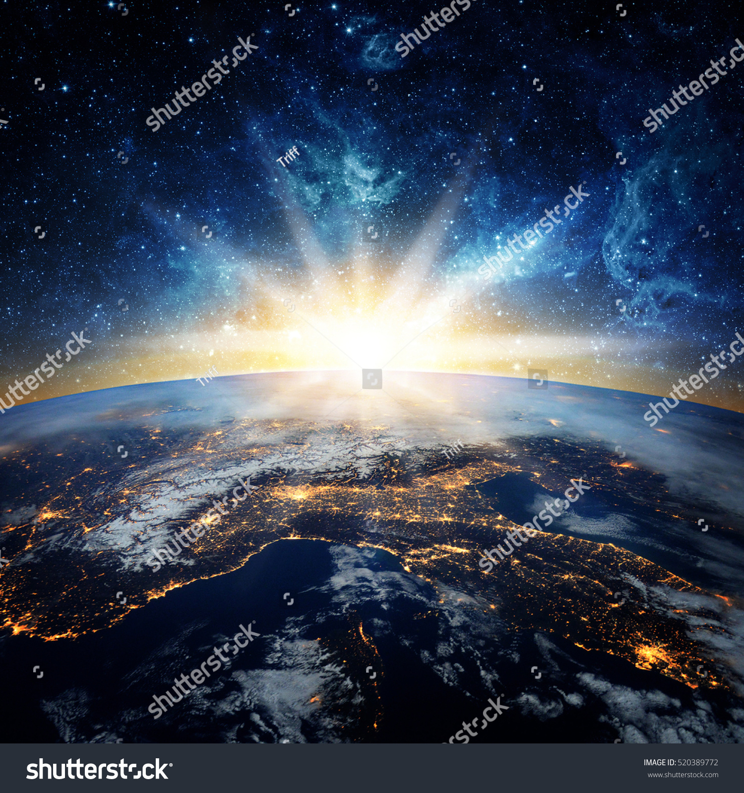 Earth Galaxy Elements This Image Furnished Stock Photo ...