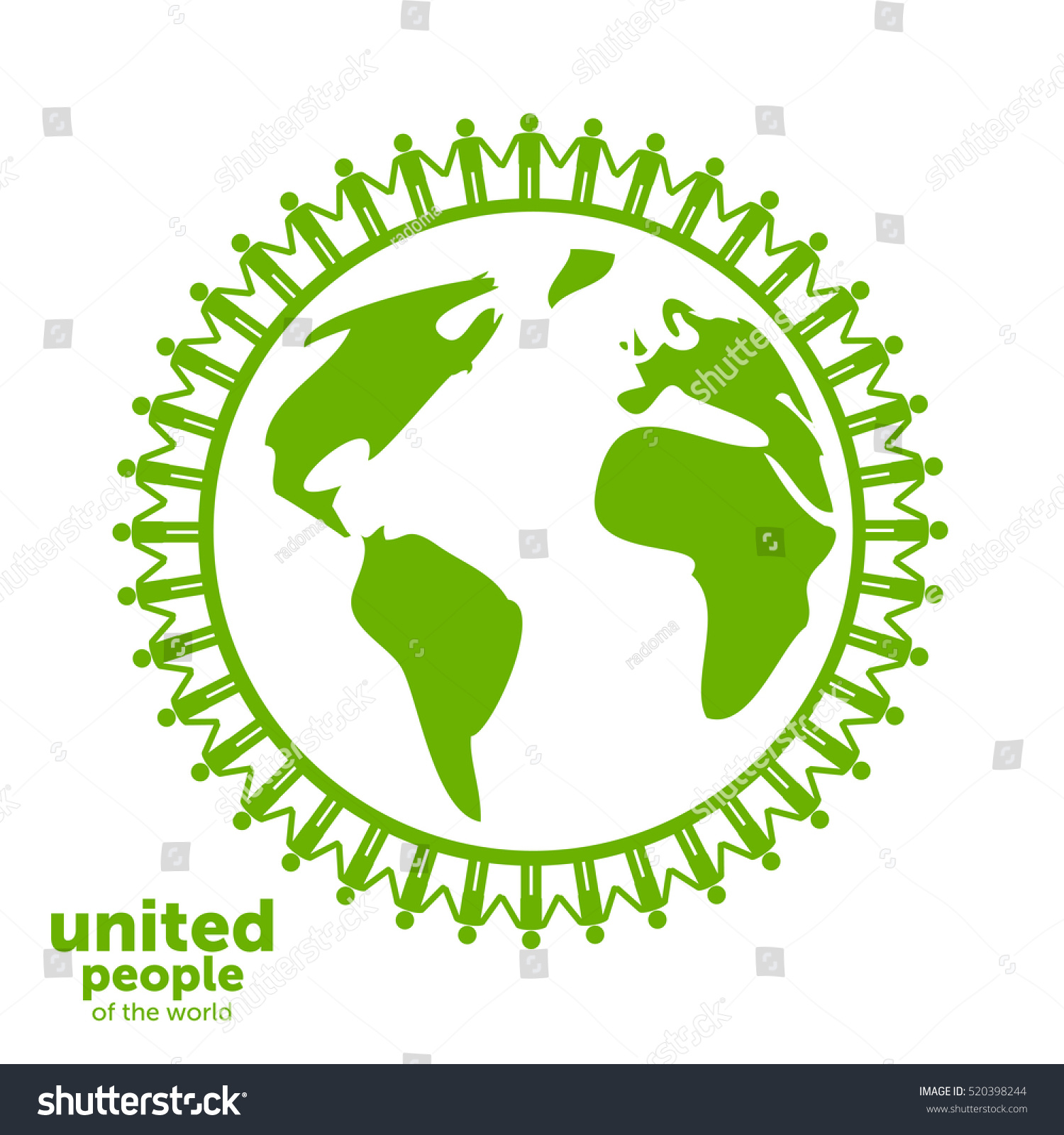 abstract unity symbol united people world stock vector