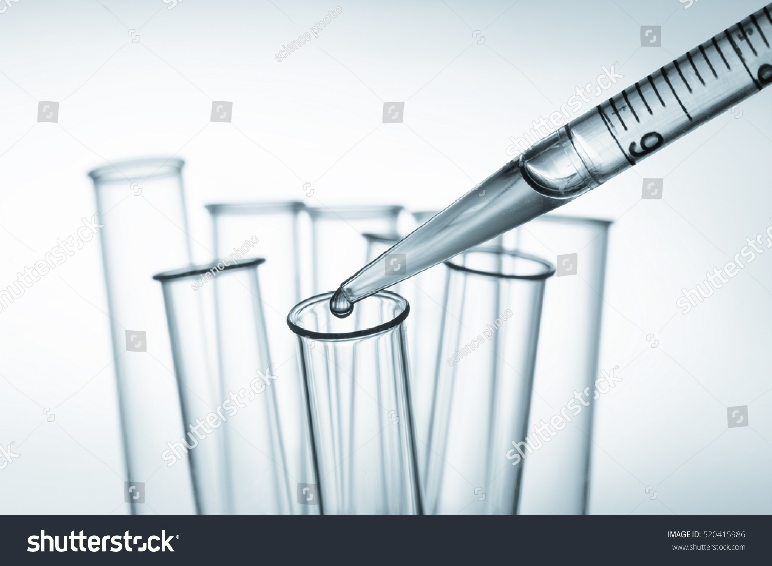 Pipette Test Tube Laboratory Toned Image Stock Photo (Edit Now ... for Laboratory Pipette Drawing  186ref