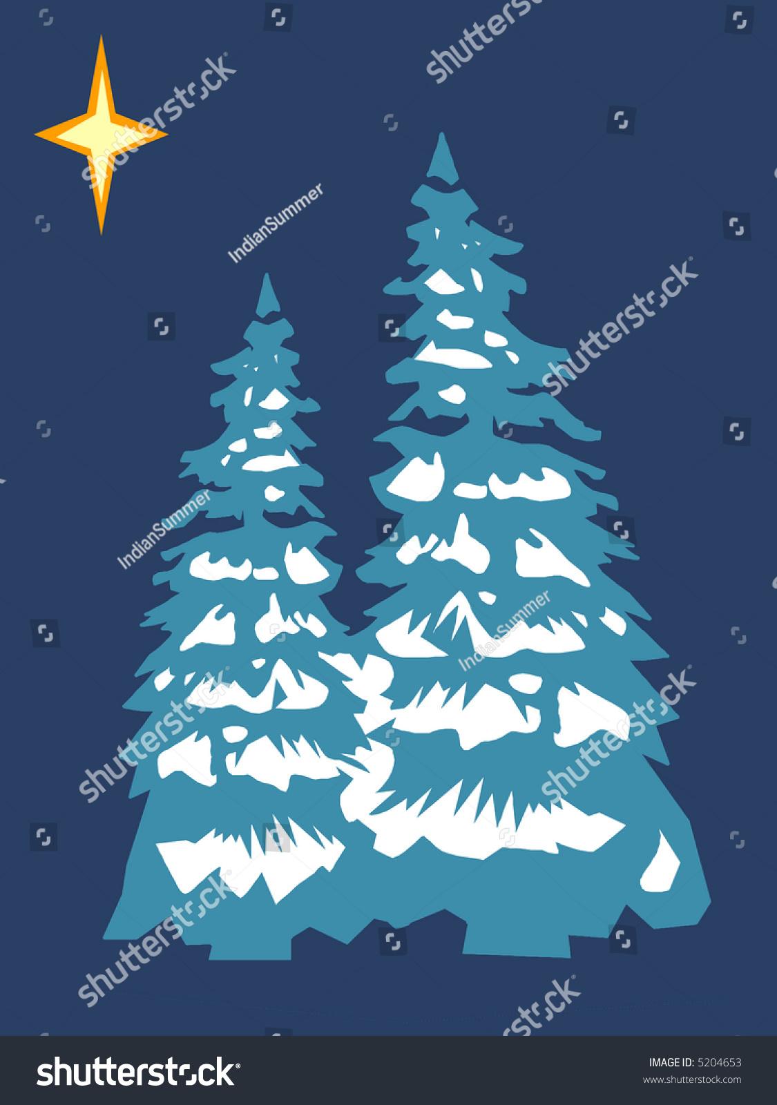 Christmas Tree Retro Colors Scheme Stock Illustration 5204653