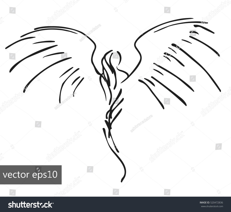 simple pinstriping angel stock vector 520472836 shutterstock