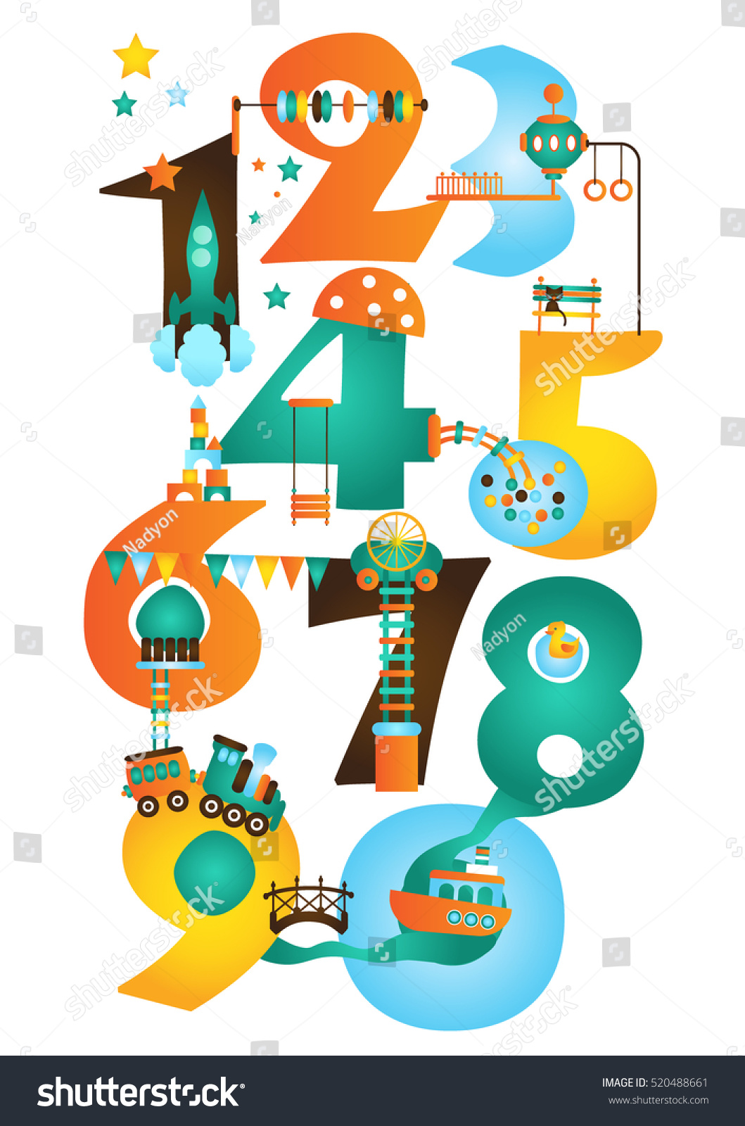 Play Learn Early Math Learn Numbers Stock Vector (Royalty Free ...