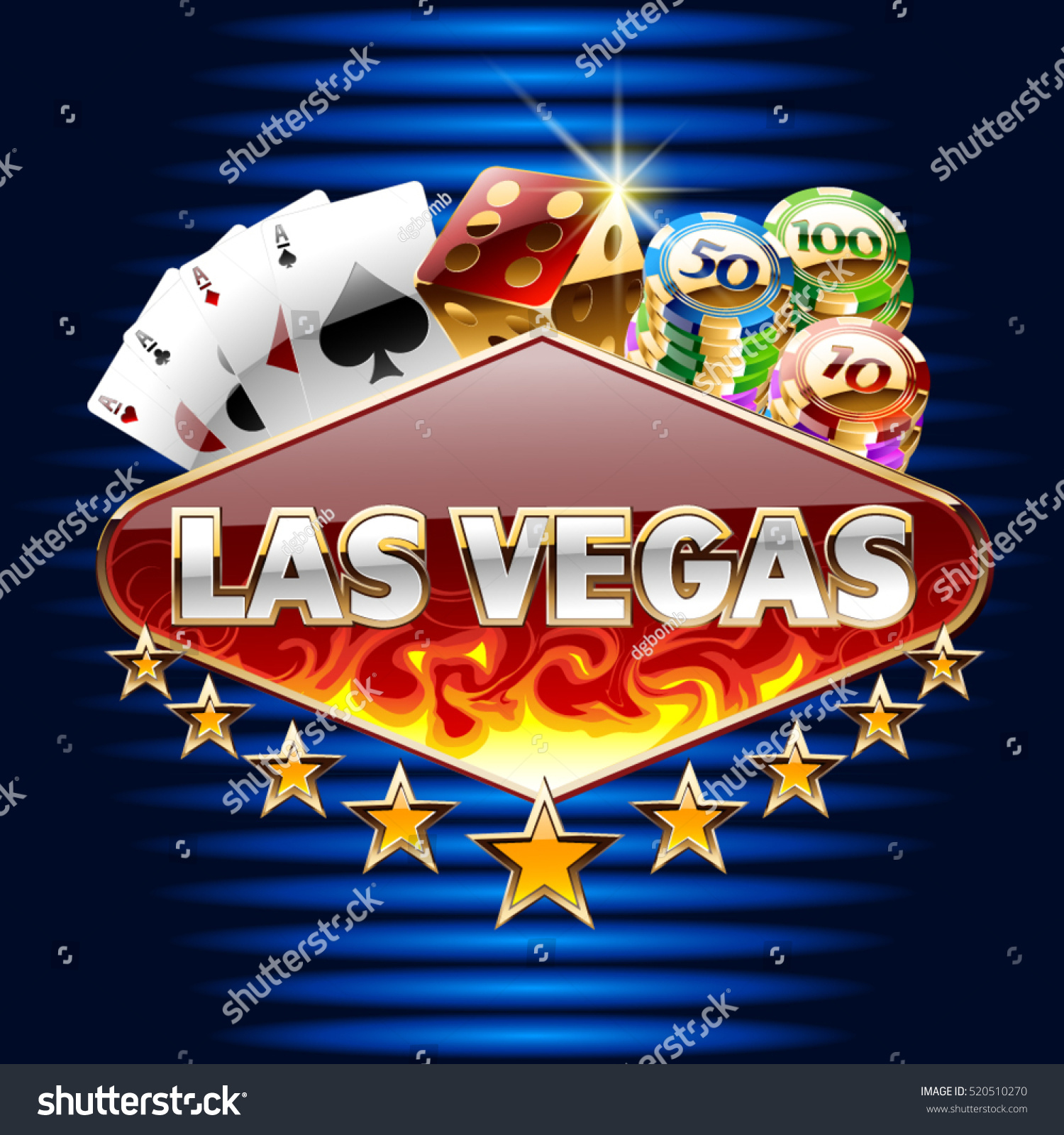 Vector Casino Card Text Las Vegas Vector de stock (libre de regalías ...