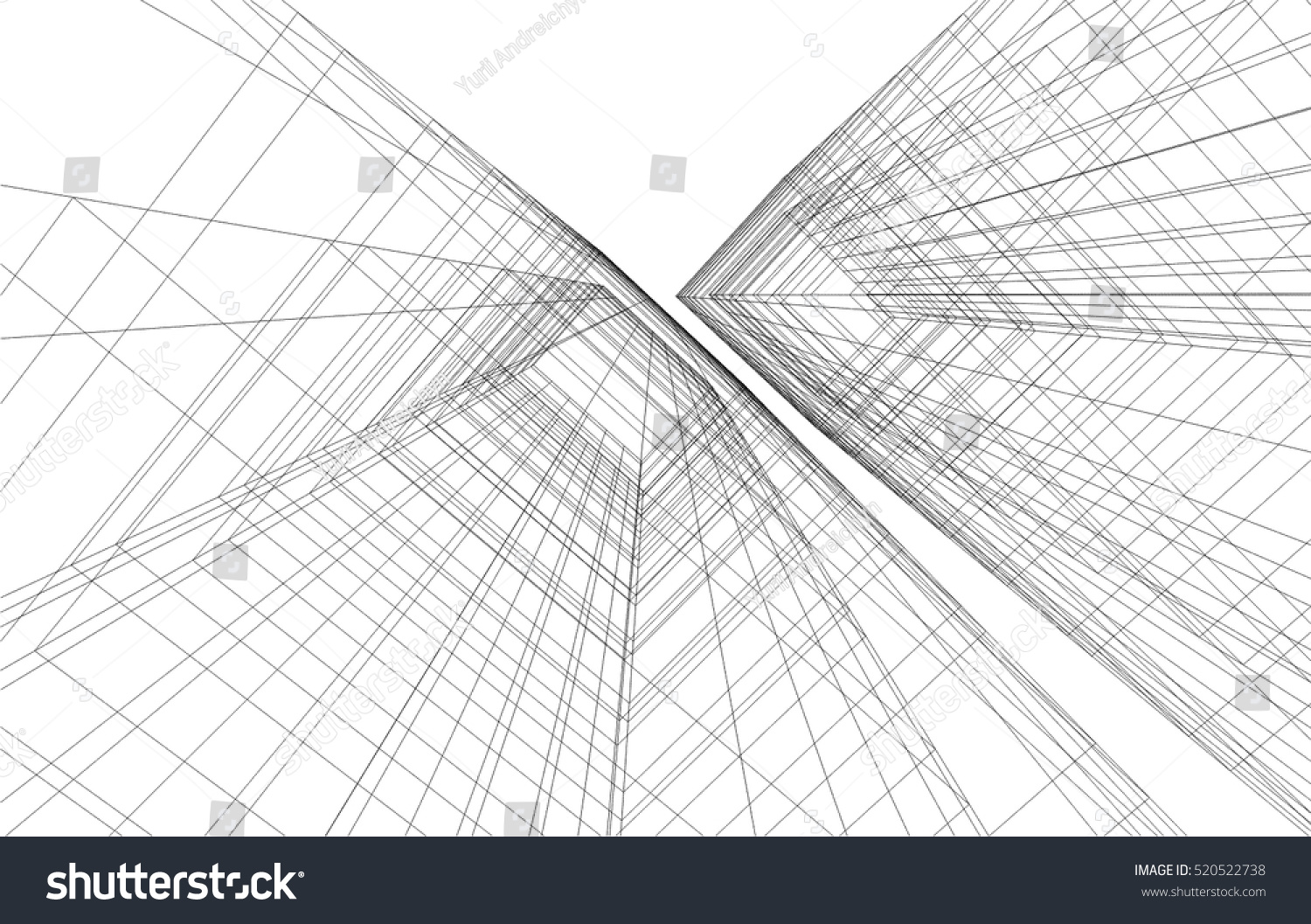 Abstract Architecture Stock Vector 520522738 - Shutterstock