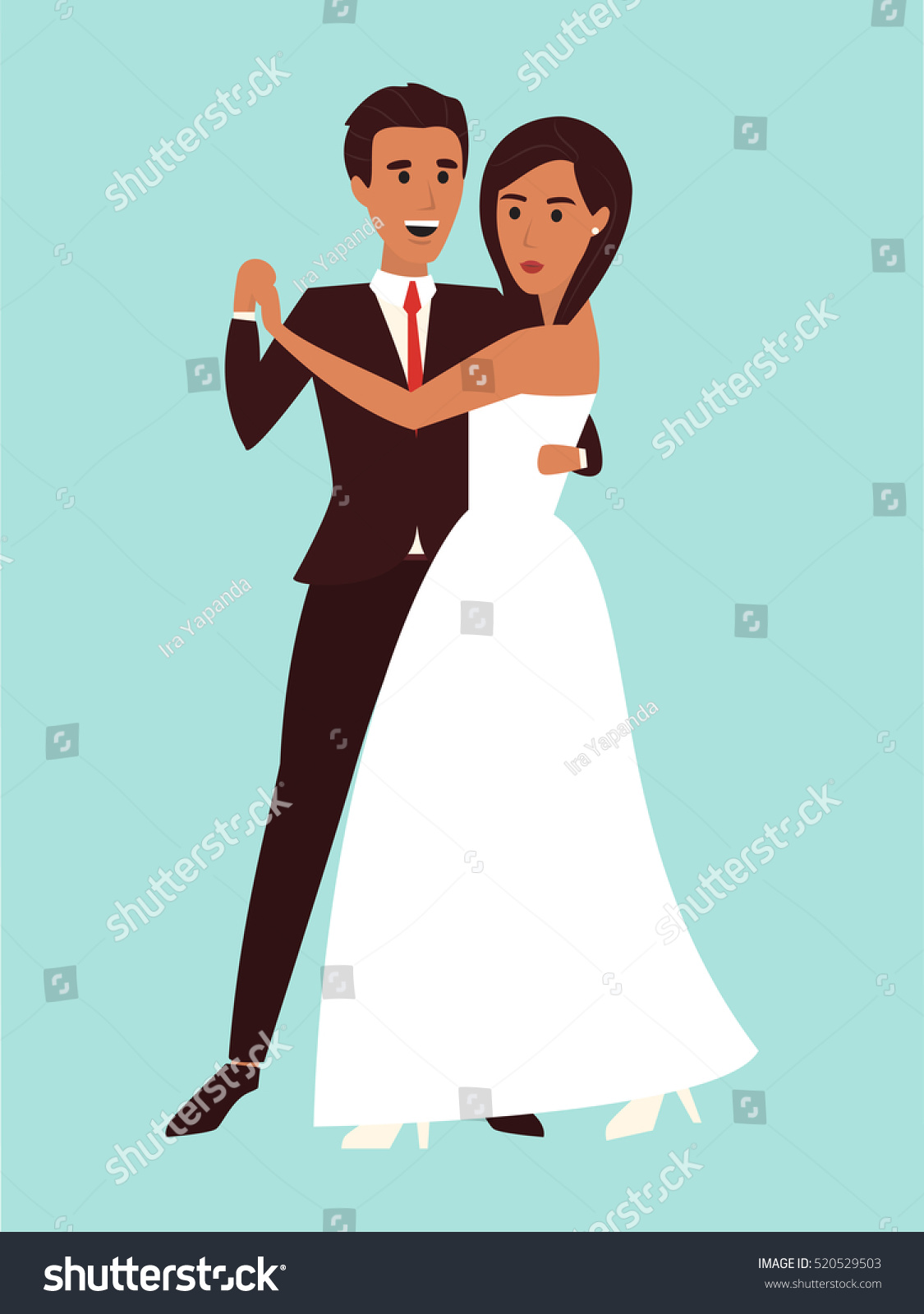 Wedding Bridal Dance Couple Dancing White Stock Vector HD (Royalty ...