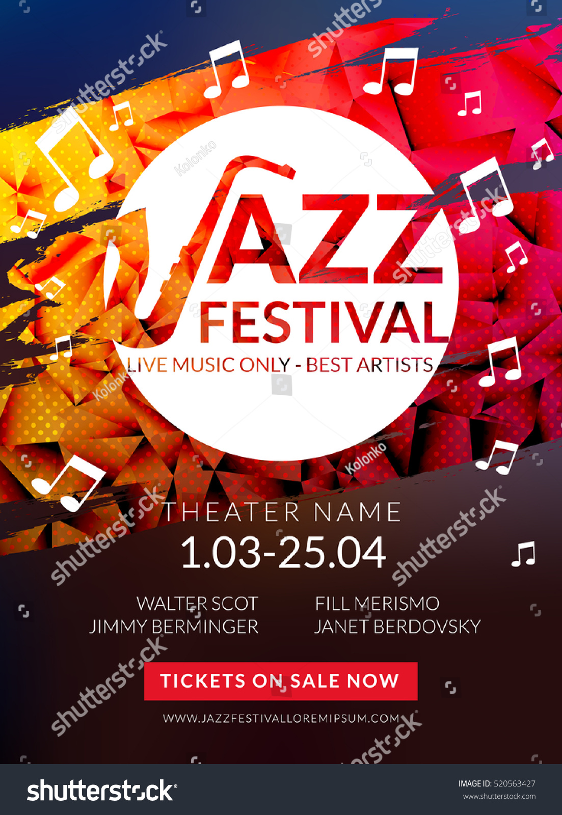 Vector Musical Flyer Jazz Festival Music Stock Vector Royalty Free