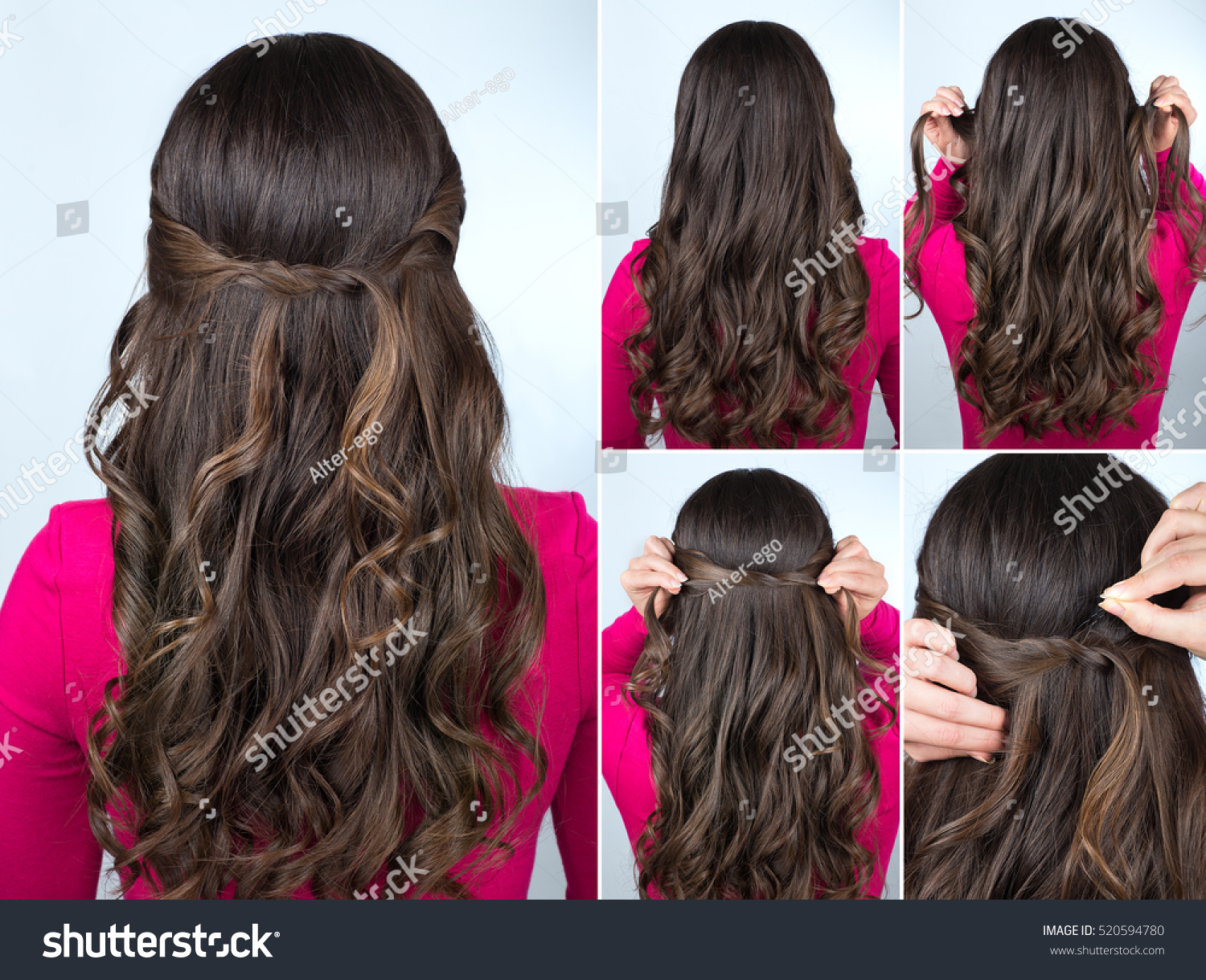 Curly hairstyles tutorials - Simple Knotted Hairstyle On Curly Hair Tutorial Hairstyle For Long Hair Hairstyle Tutorial Step