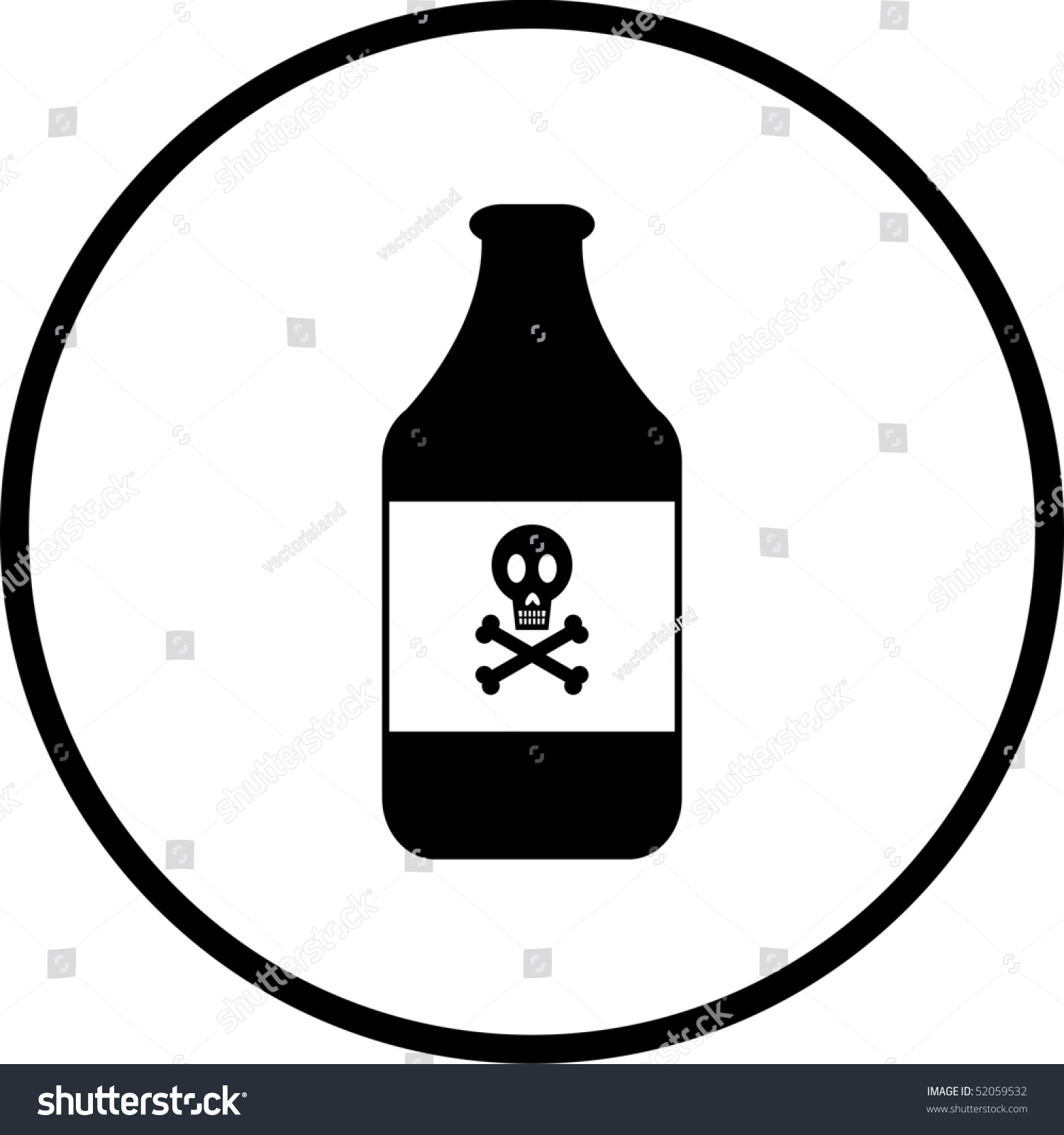 Poison symbol stock illustration 52059532 shutterstock poison symbol biocorpaavc Image collections