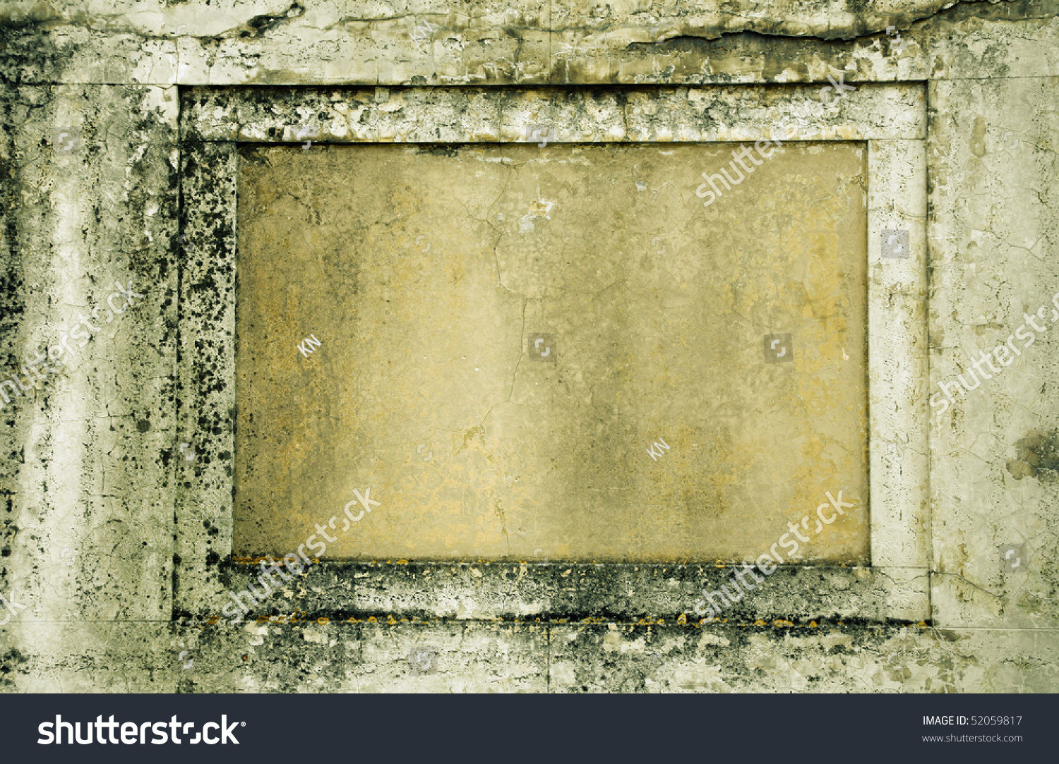 Nice Old Decayed Marble Wall With Space For Text Found In
