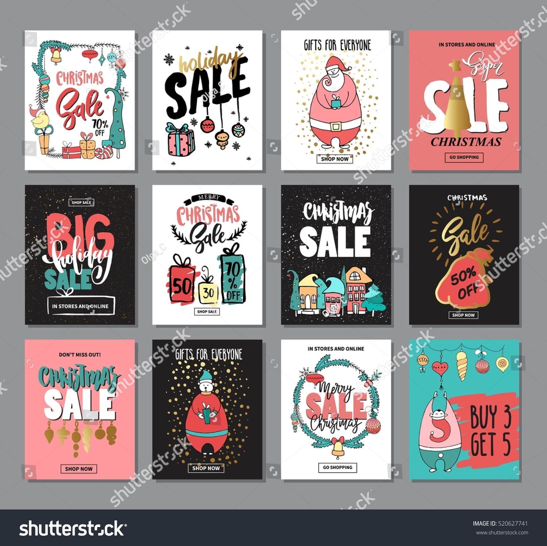 Set Creative Sale Holiday Website Banner Stock Vector 520627741 ...