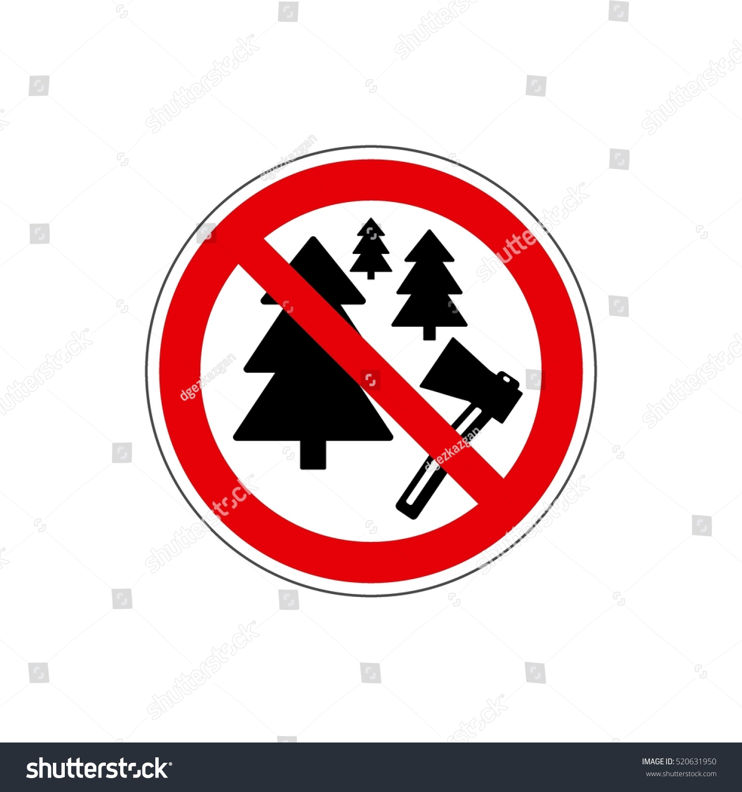 STOP Vector No Christmas Tree Icon Stock Vector (Royalty Free ...