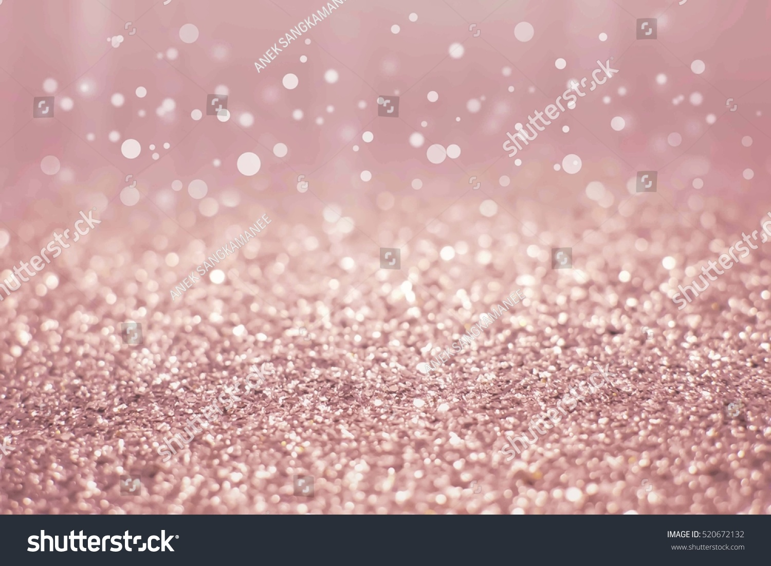 Rose Gold And Silver Abstract Glowing Christmas Background