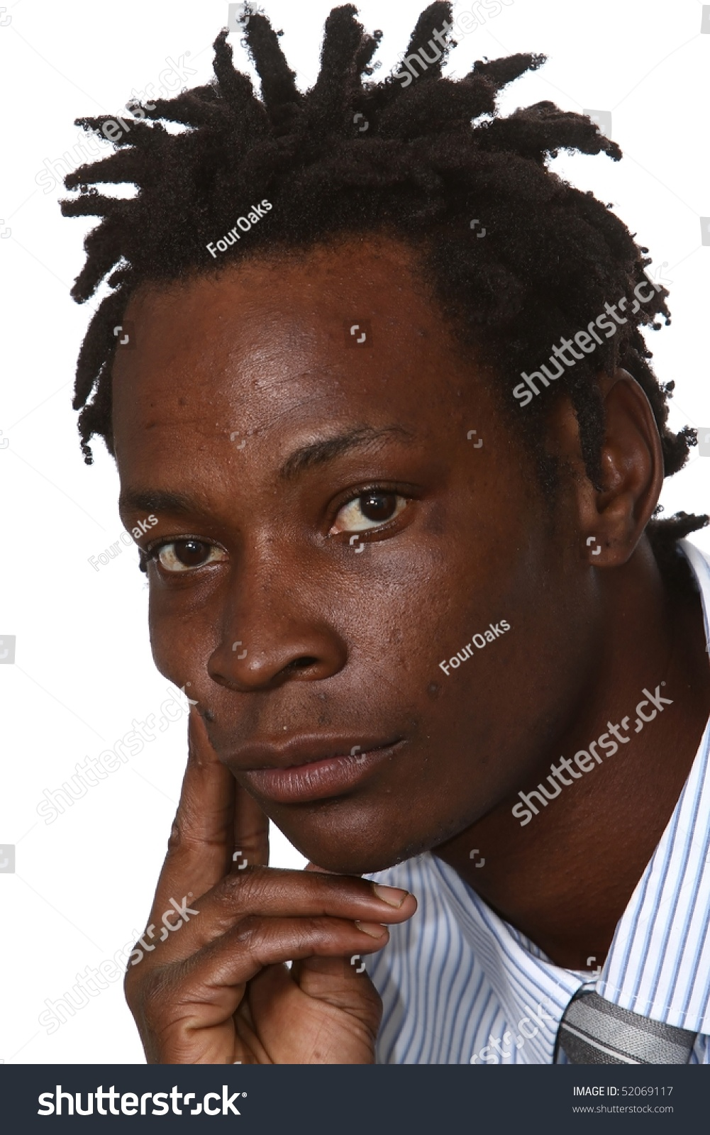 Young Black Business Man With Dreadlocks Hairstyle Stock Photo ...