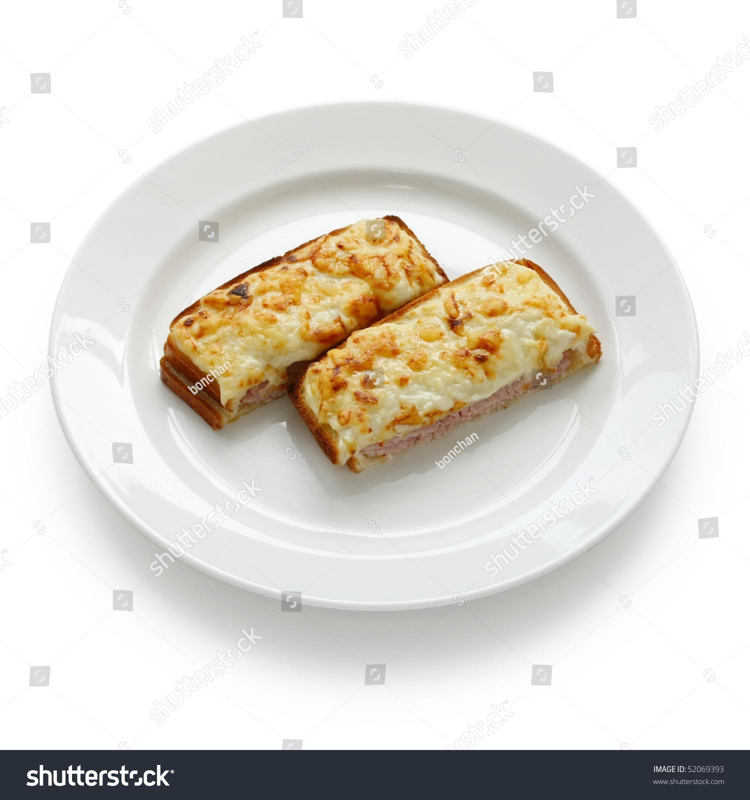Croque Monsieur,Ham And Cheese Sandwich Stock Photo ...