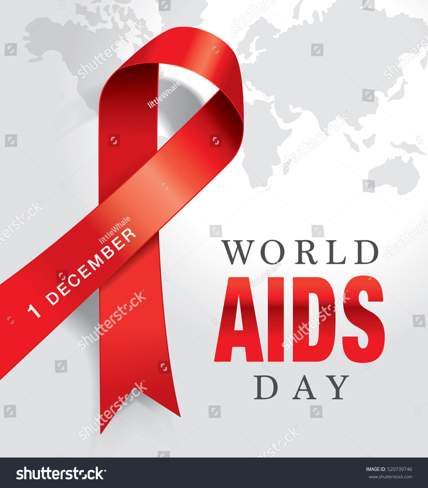1st December World Aids Day Poster Stock Vector 520739746 ...