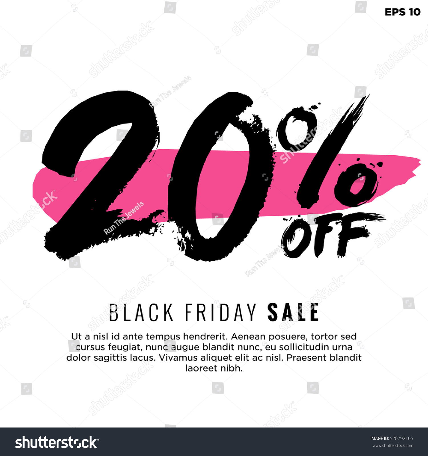 20 Off Black Friday Sale Promotional Stock Vector Royalty Free 520792105