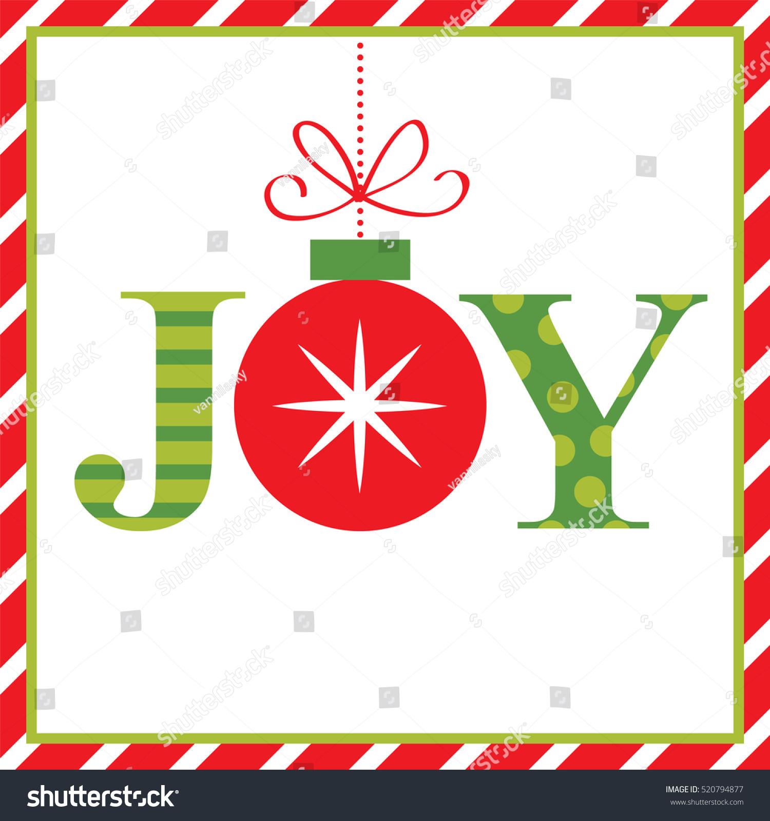 Joy Christmas Card Stock Vector (Royalty Free) 520794877 - Shutterstock