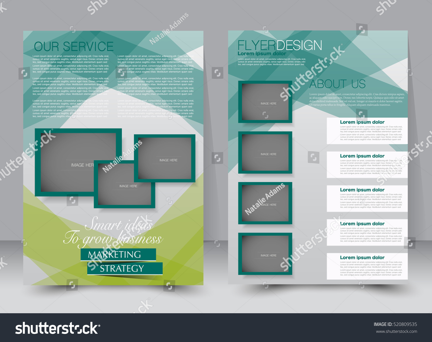 brochure template business flyer annual report stock vector 520809535 shutterstock. Black Bedroom Furniture Sets. Home Design Ideas