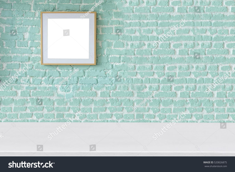 New Empty Green Brick Wall Living Stock Photo 520826875 - Shutterstock