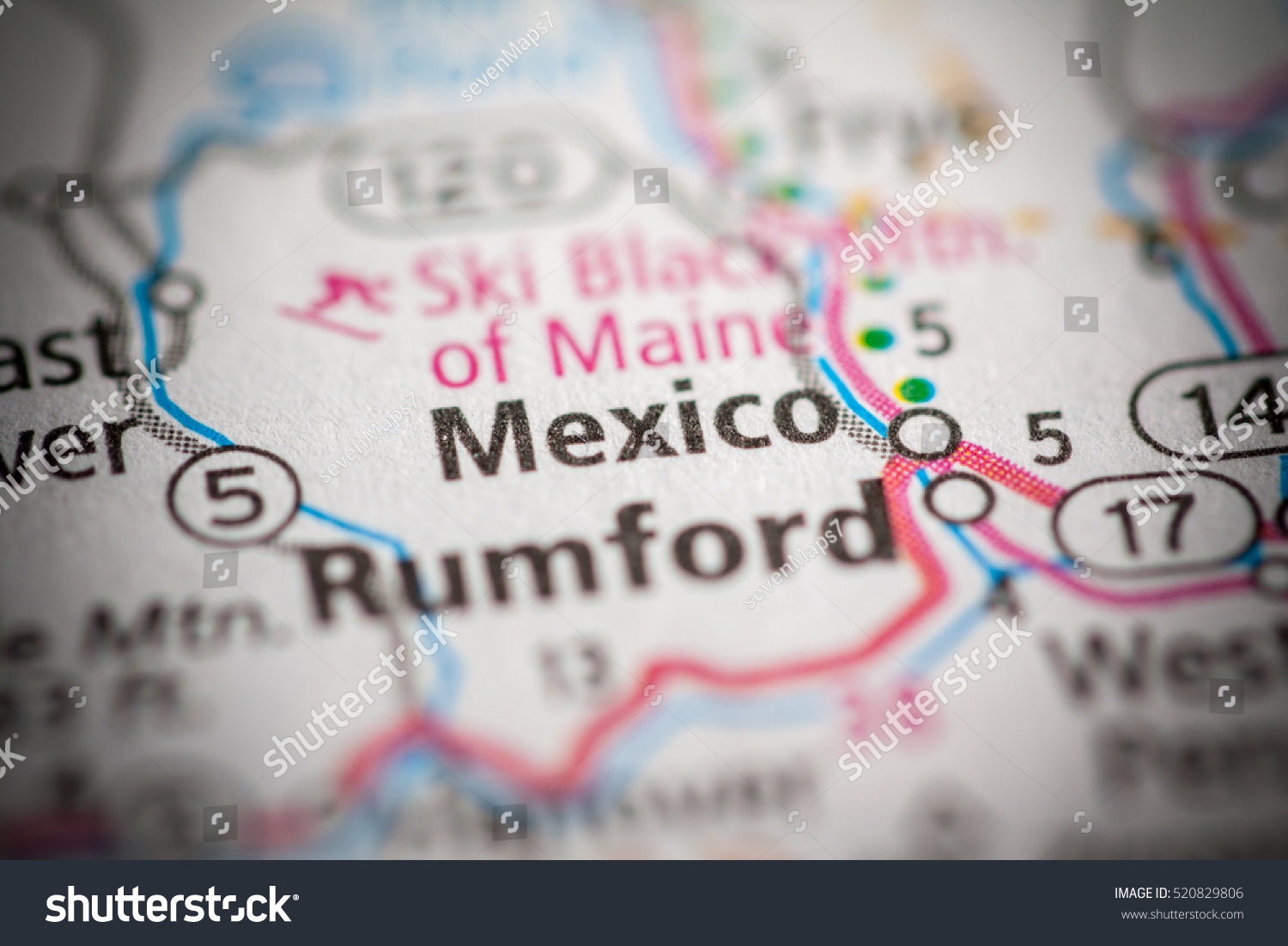 Mexico Maine Map.Mexico Maine Usa Stock Photo Edit Now 520829806 Shutterstock