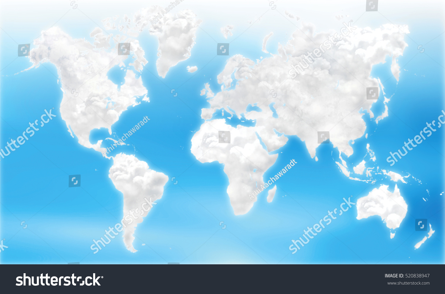 Cloud atlas cloudy world map geography stock illustration 520838947 cloud atlas cloudy in world map geography environmental concept gumiabroncs Gallery