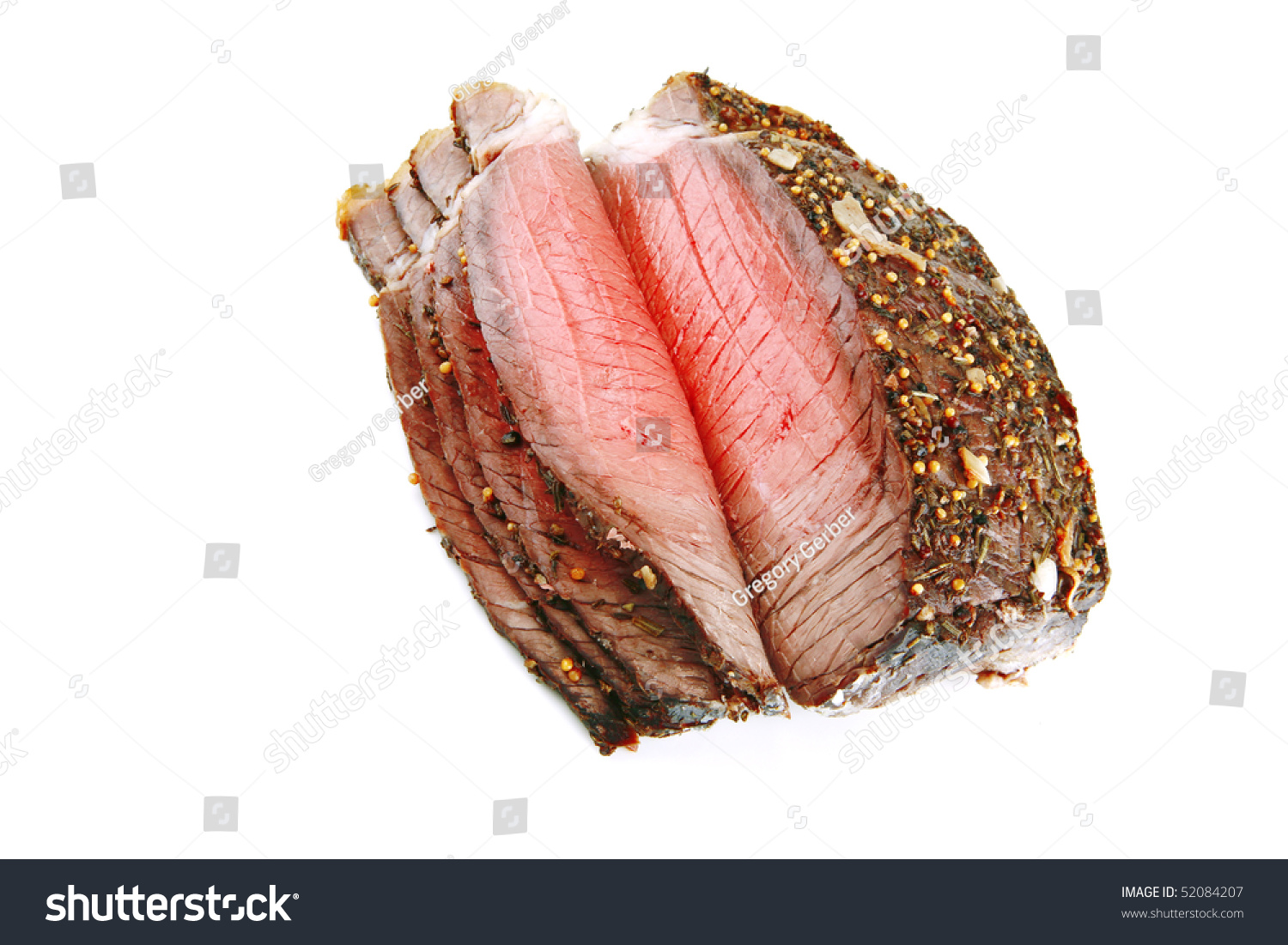 Sliced roast beef package - Whole Roast Beef Slice Isolated Over White