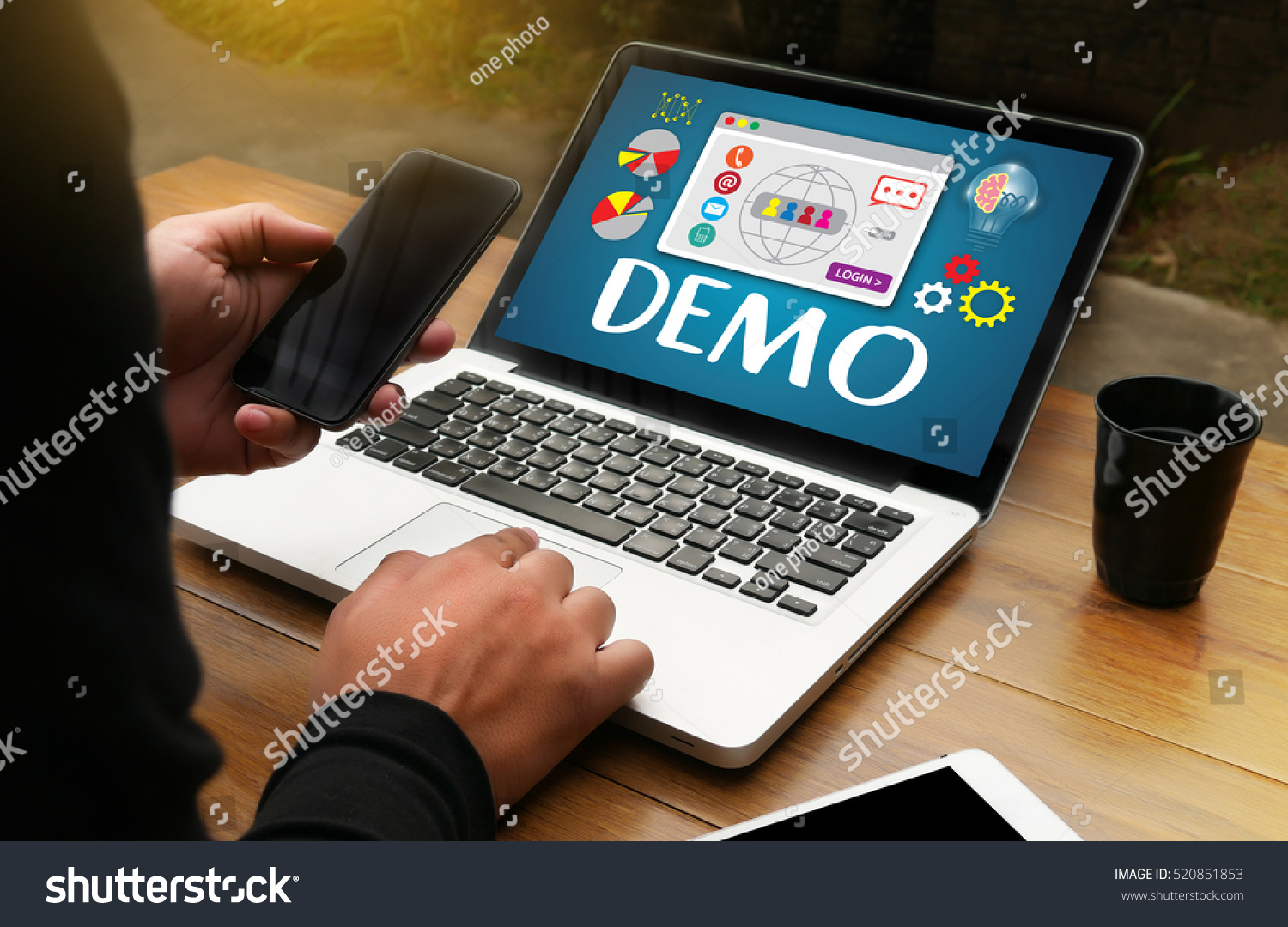 Demo Preview Ideal Trial Stock Photo 520851853