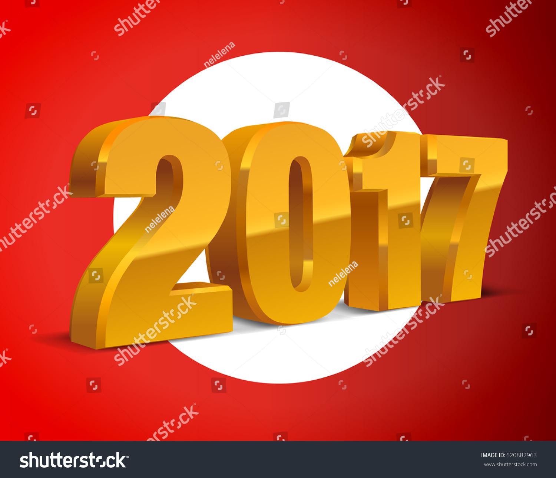 Calendar Background Vector : Goldenyellow text d calendar background stock vector