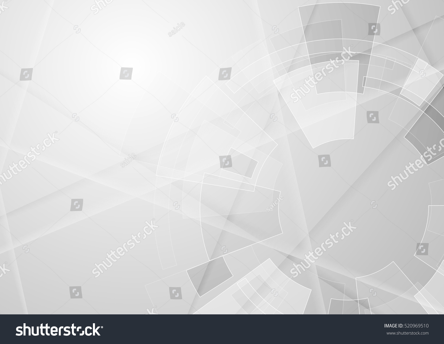 Grey geometric technology background with gear shape. Vector abstract graphic design #520969510